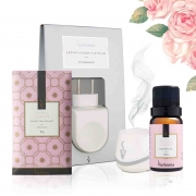 Kit 3 produtos Casa Perfumada P - Essência Peônia + Aromatizador Elétrico + Sachê Perfumado