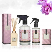 Kit 4 produtos Casa Perfumada M - Essência Peônia Garden - Aroma Floral, delicado e frutal