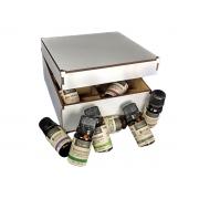 Kit 8 Óleos Essenciais Via Aroma 100% Puros + Brinde Caixa Organizadora MDF Branca