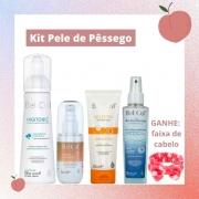 Kit Pele de Pêssego - Skincare Completo para uma Pele Limpa, Iluminada e Saudável