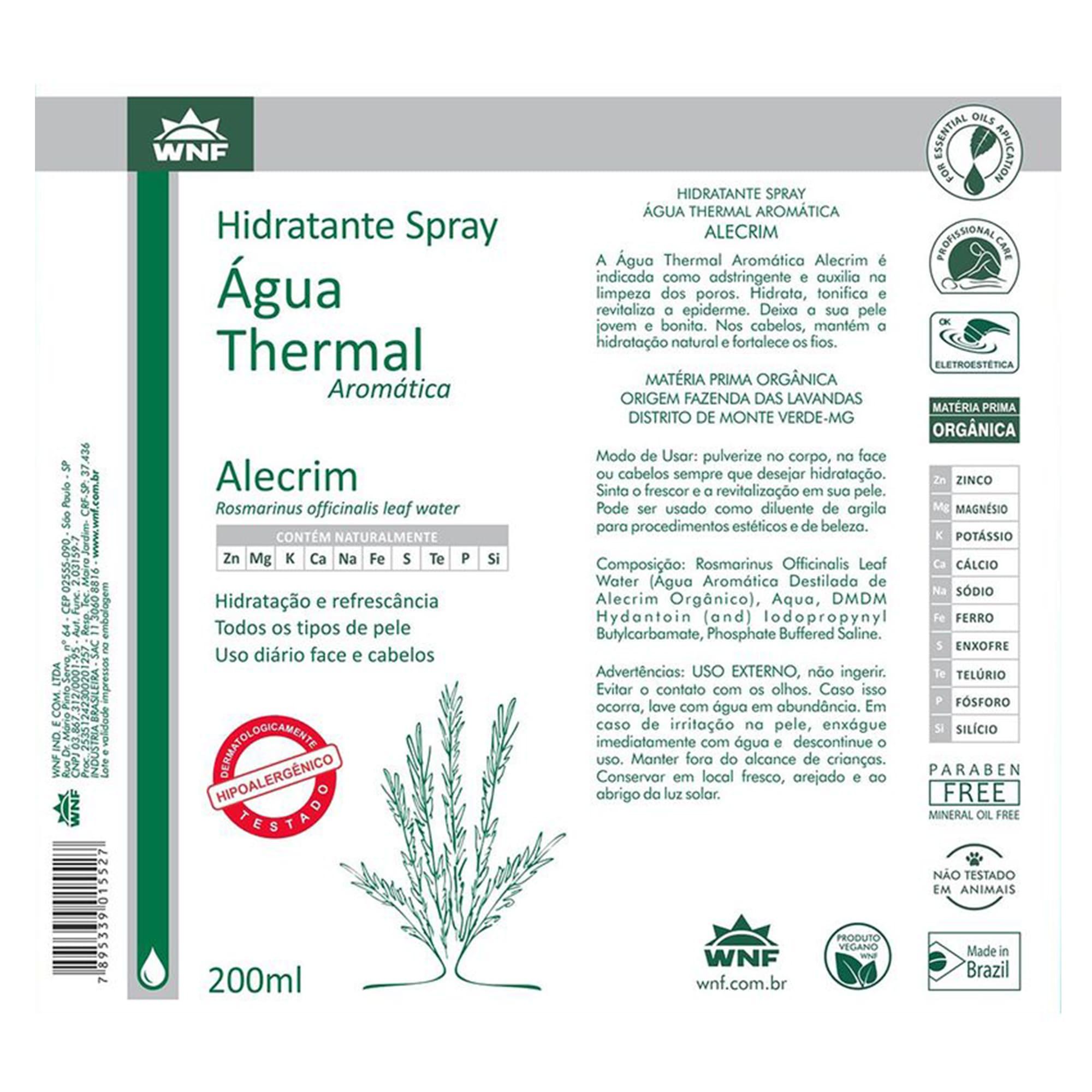 Água Thermal Natural de Alecrim 200ml – WNF