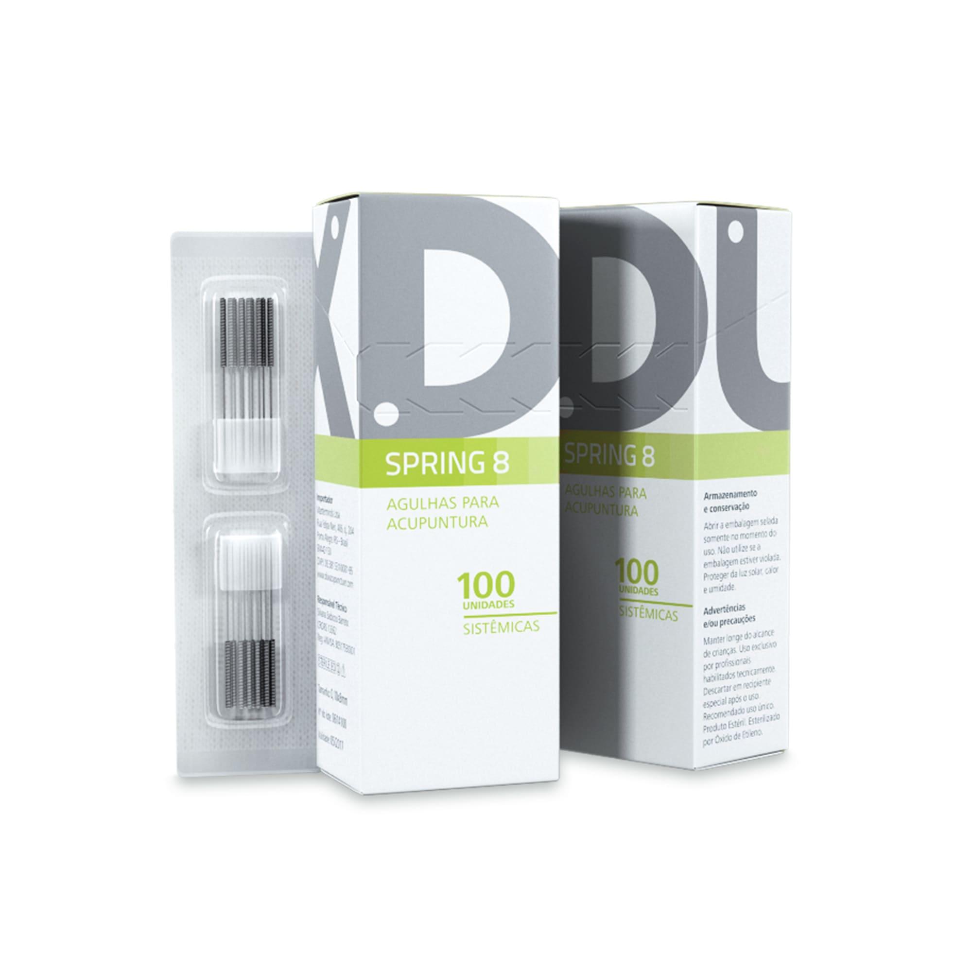 Agulhas Faciais para Acupuntura (Spring 8) - Dux Acupuncture