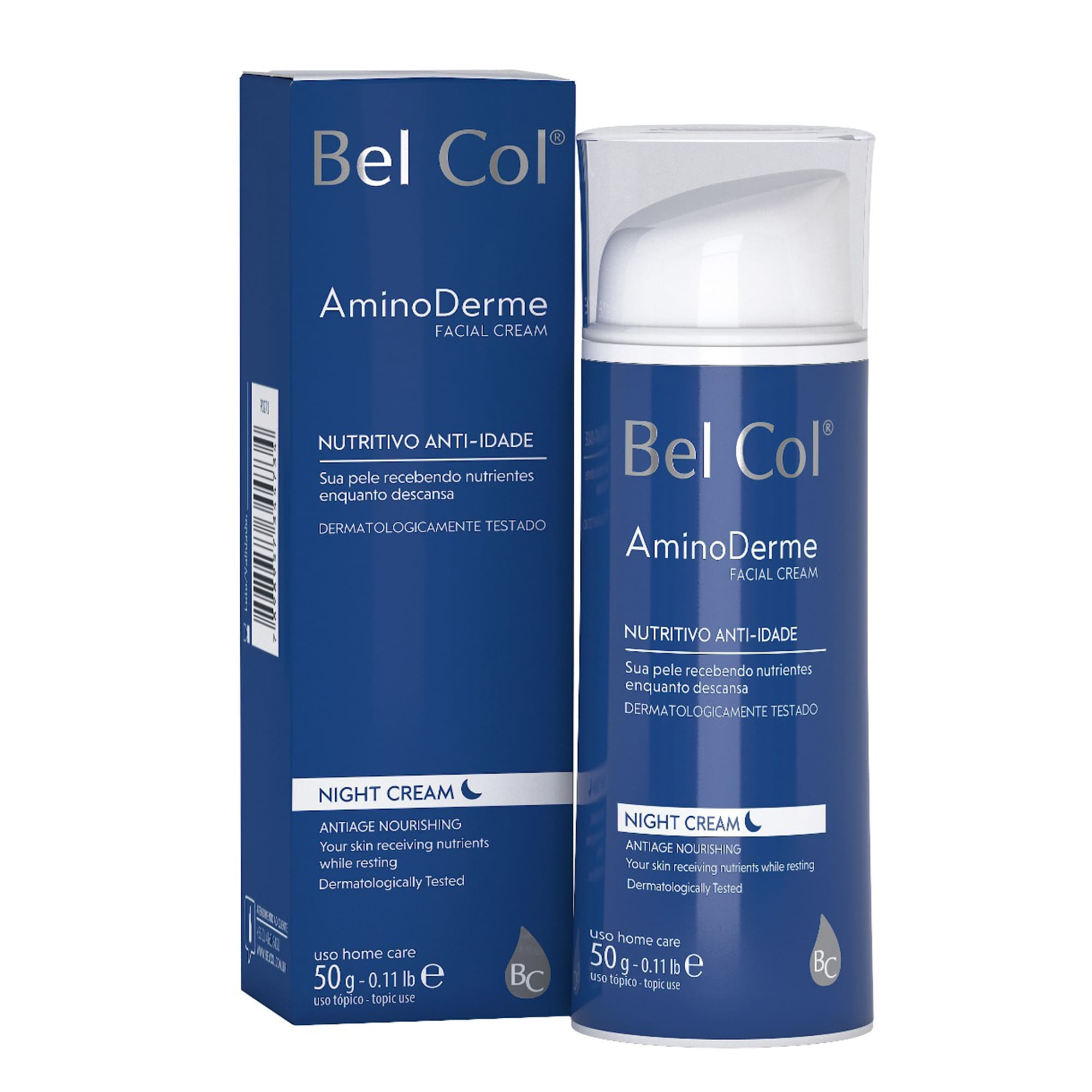 Aminoderme Night Cream 50g |Bel Col Cosméticos