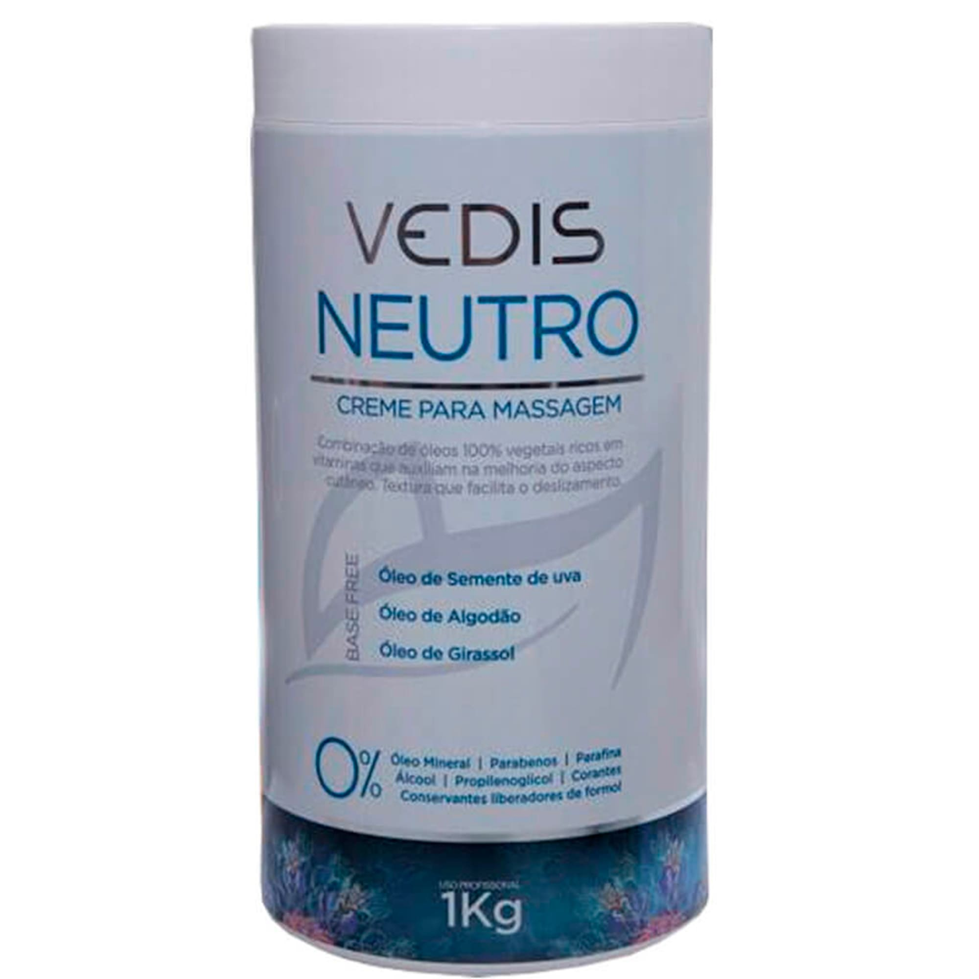 Creme Neutro Para Massagem 1kg - Vedis