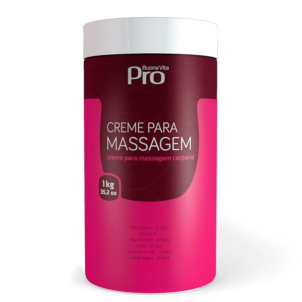 Creme para Massagem 1kg | Buona Vita Cosméticos
