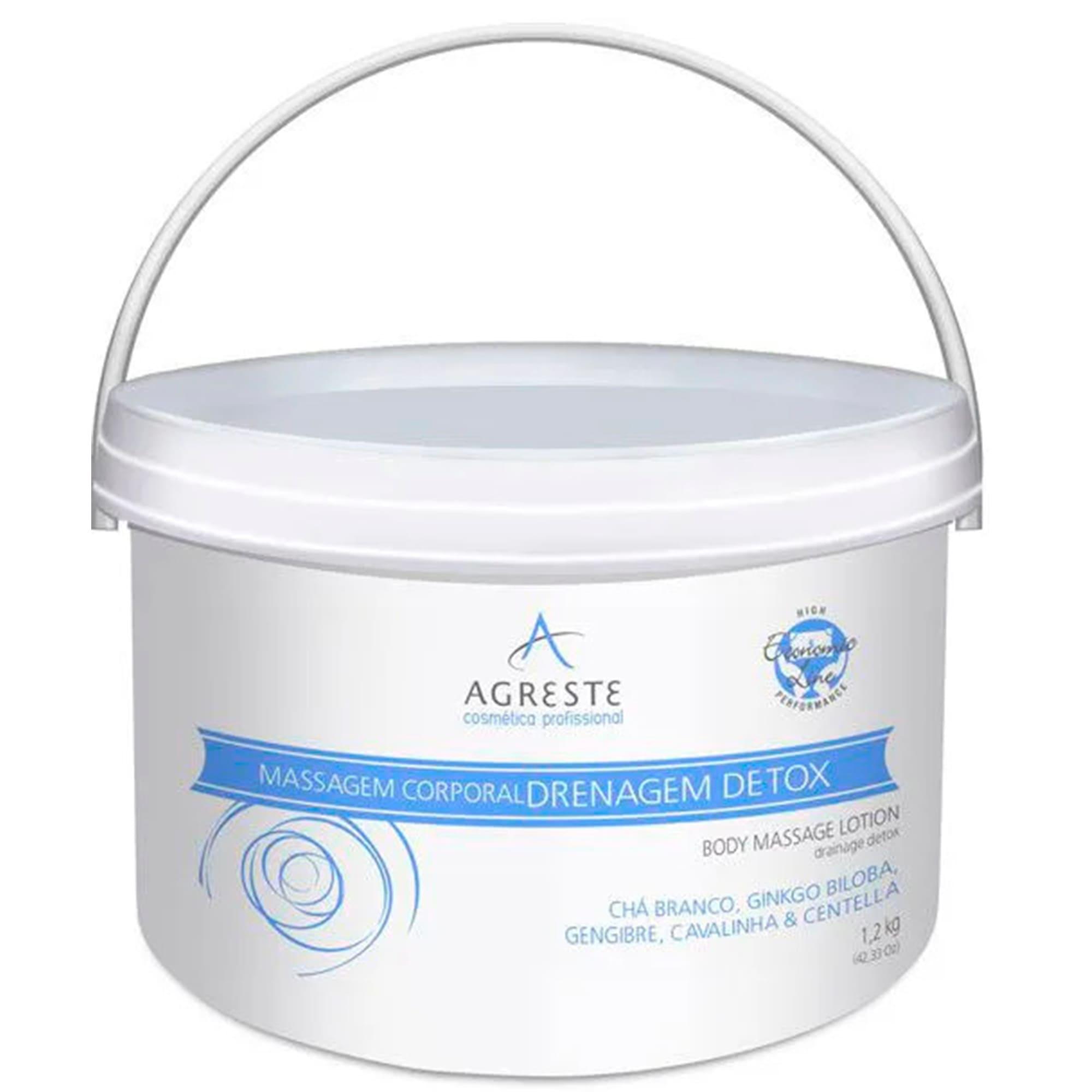 Creme para Massagem Drenagem Detox 1,2Kg - Agreste