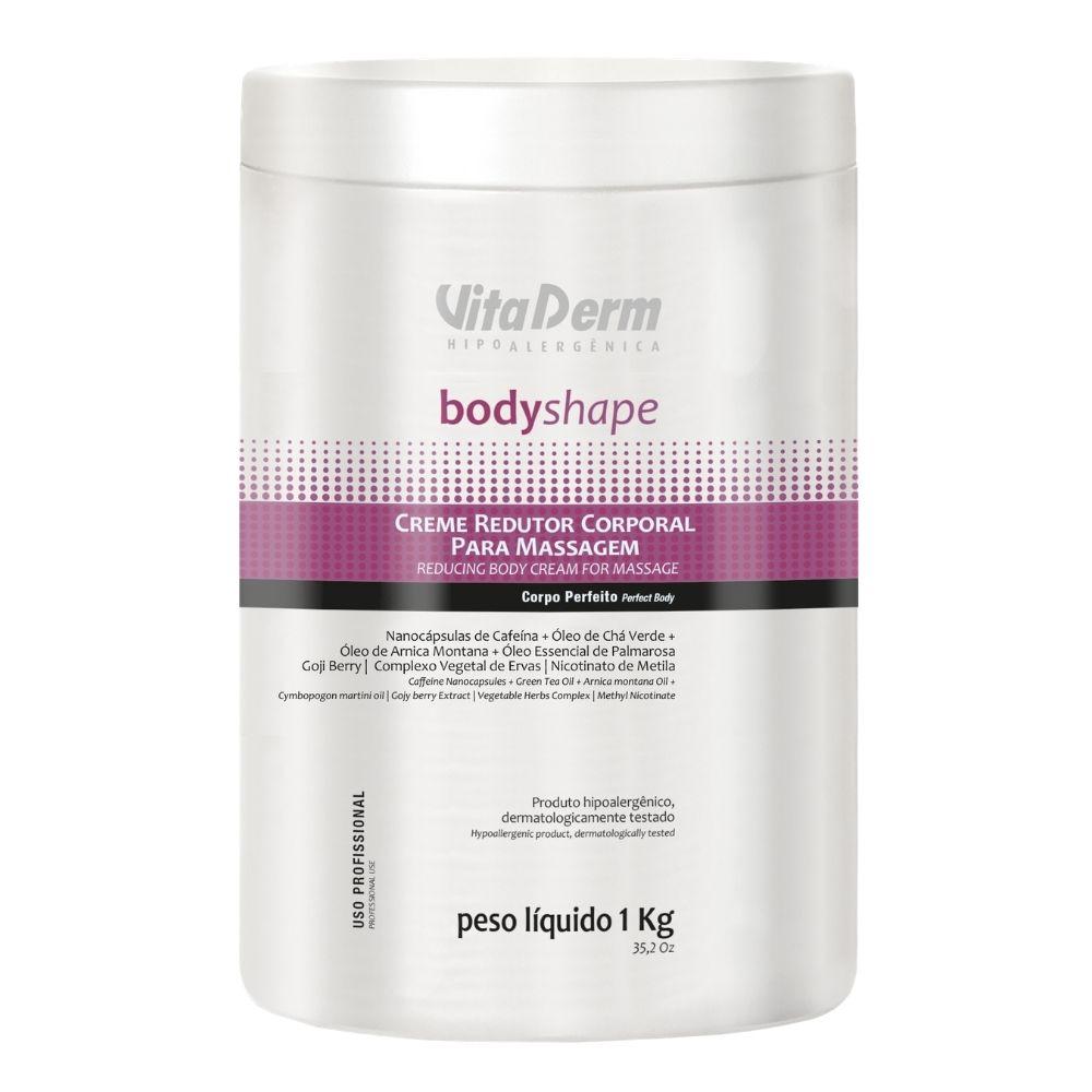 Creme Redutor Corporal Body Shape 1kg - Vita Derm