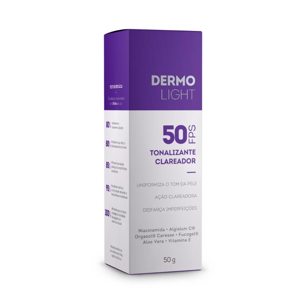 Dermolight Tonalizante Clareador Fps50 50g - Extratos da Terra