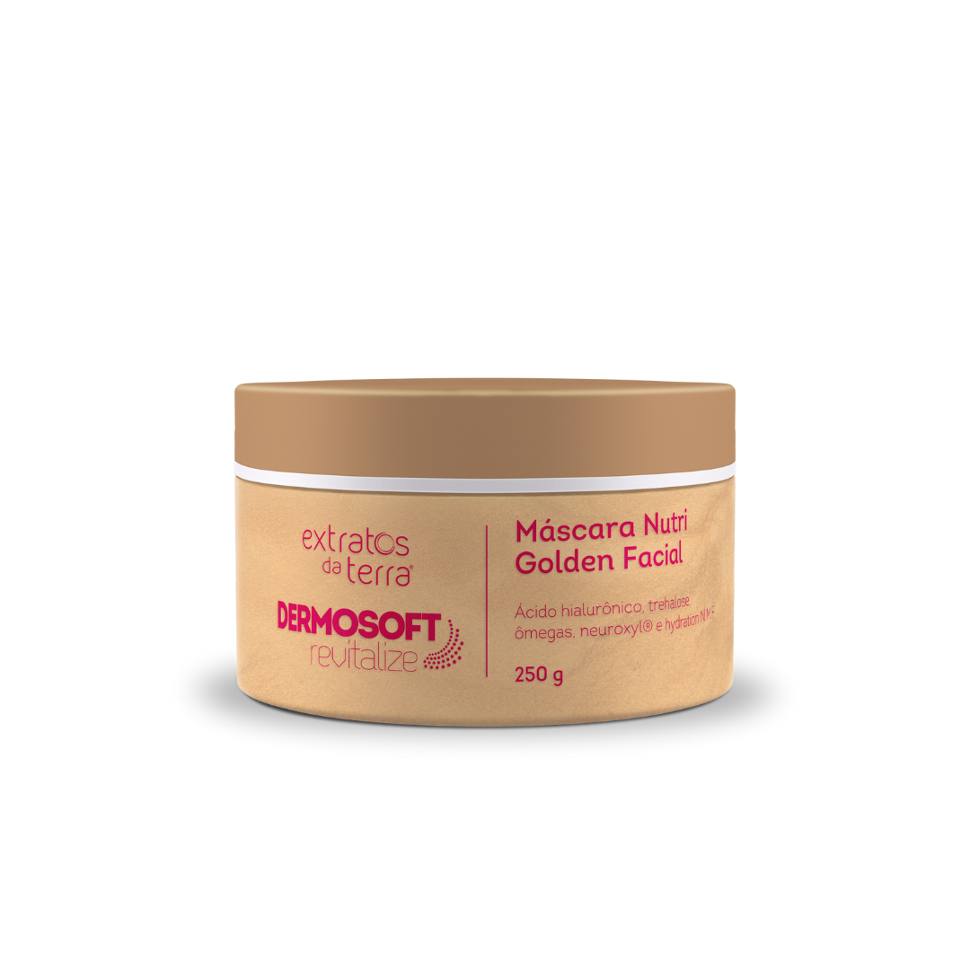 Dermosoft Mascara Nutri Golden Facial 250g - Extratos da Terra