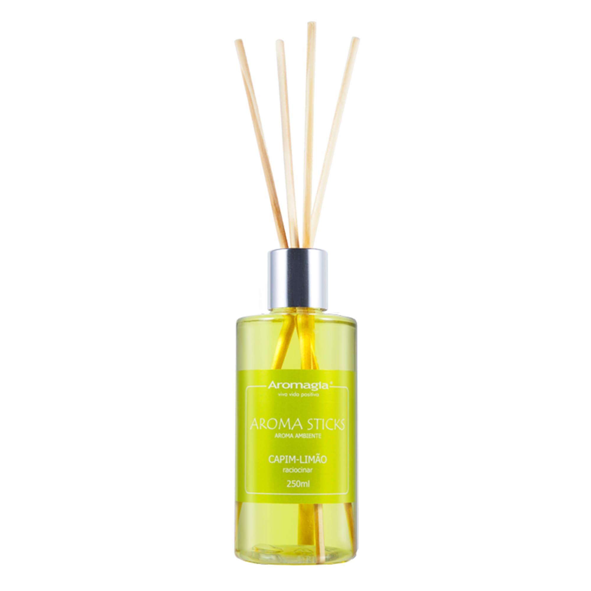 Difusor por varetas Aroma Sticks Aromagia 250ml - Capim Limão - WNF