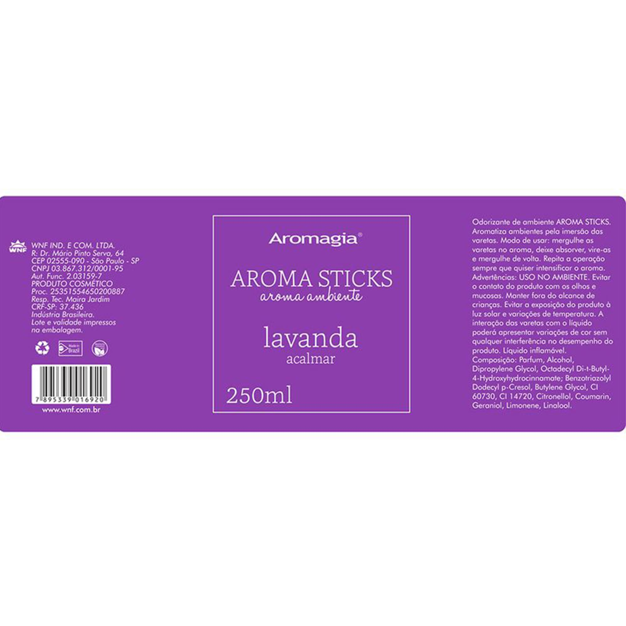 Difusor por varetas Aroma Sticks Aromagia - Lavanda - WNF