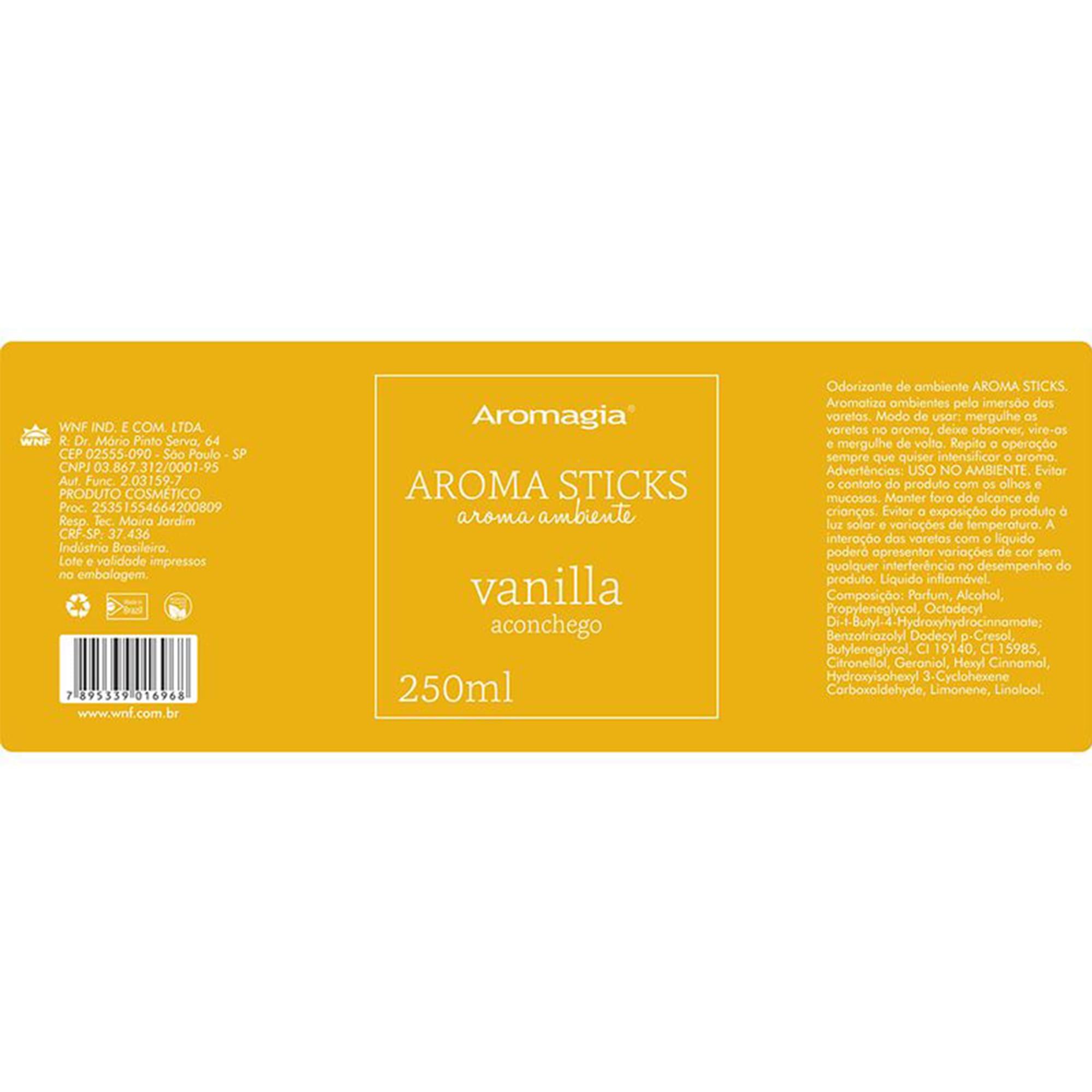Difusor por varetas Aroma Sticks Aromagia - Vanilla - WNF