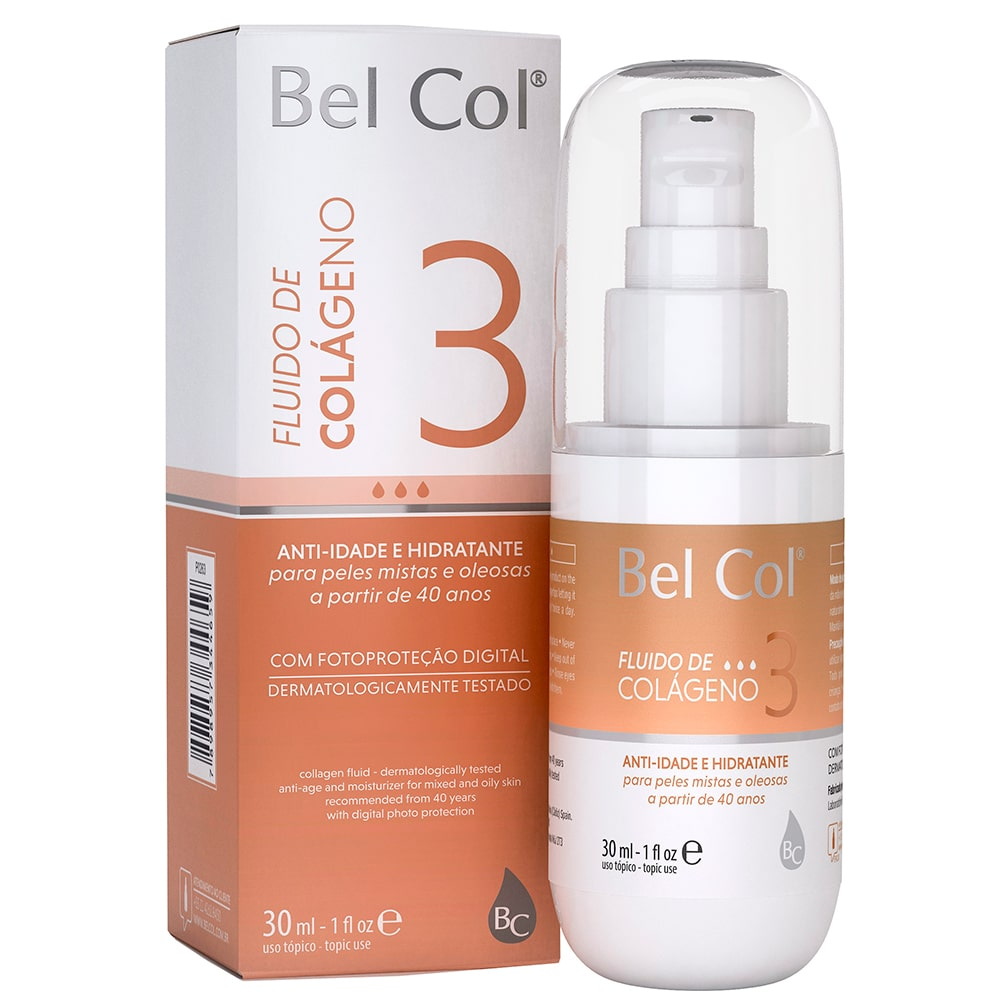 Fluido de Colágeno 3 para Peles Mistas e Oleosas 30ml - Bel Col
