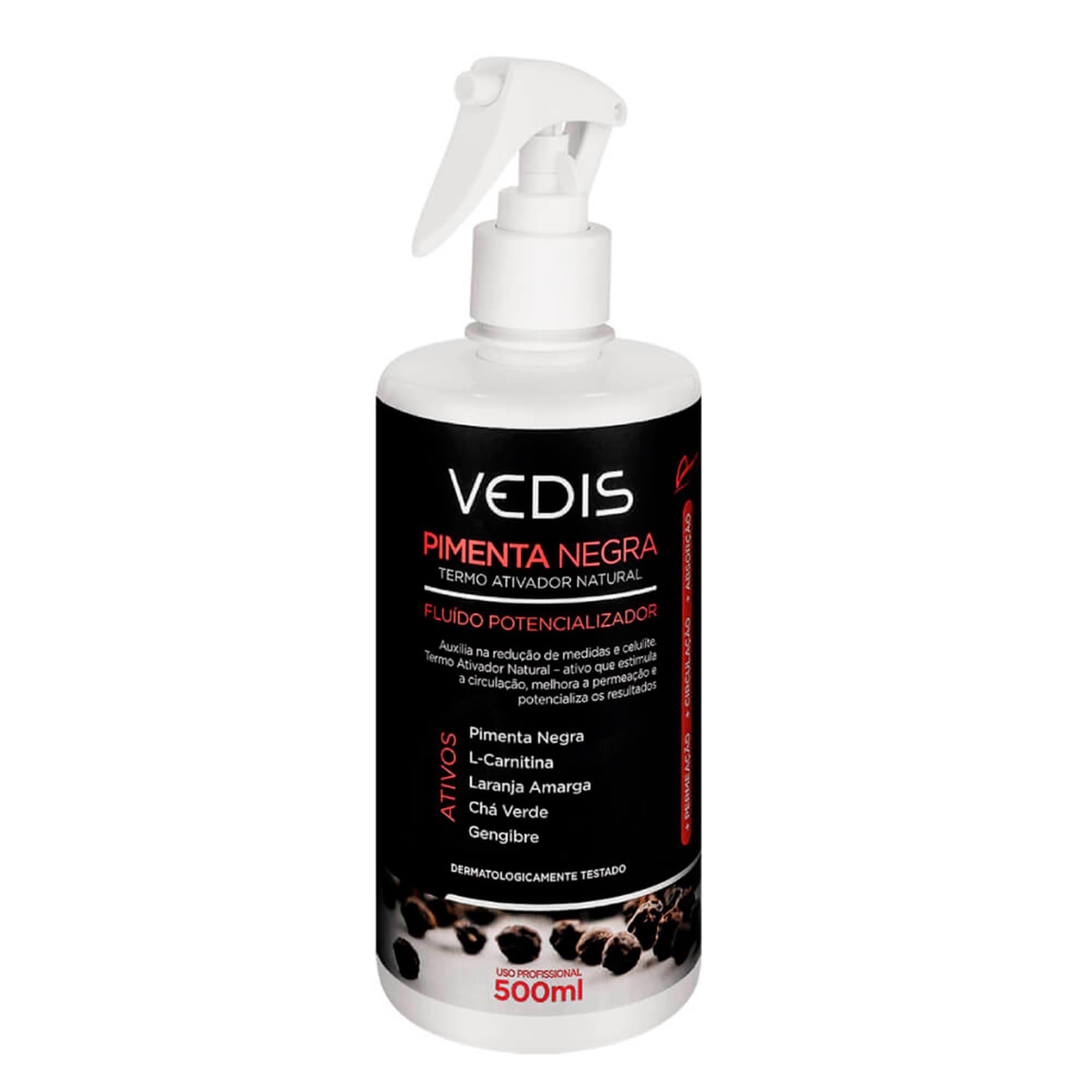 Fluído Potencializador Pimenta Negra 500ml - Vedis