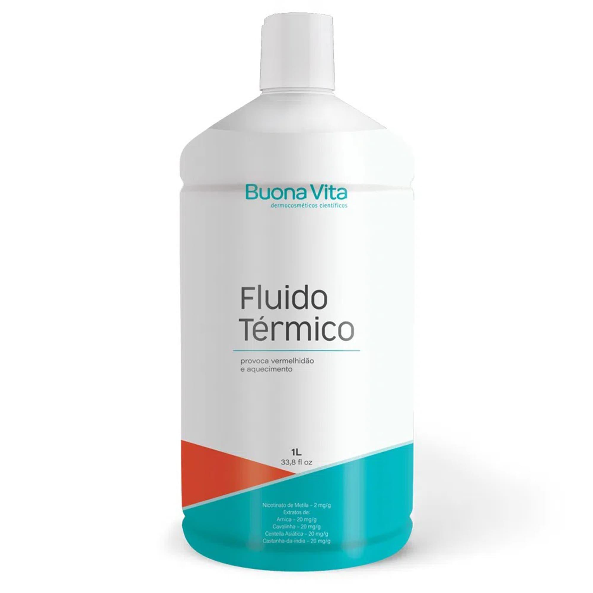Fluido Térmico - Tratamento de Celulite, Gordura Localizada e Estrias 1l   Buona Vita Cosméticos