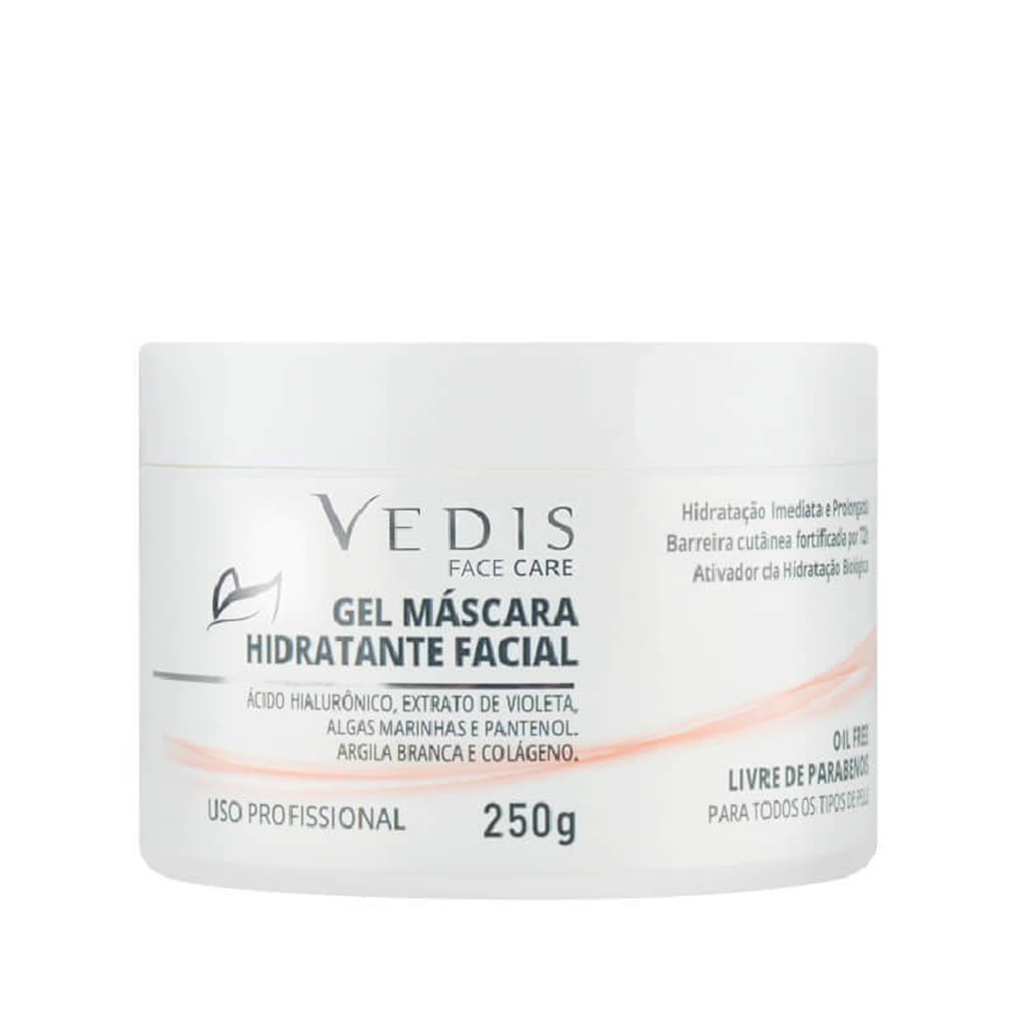 Gel Máscara Hidrante Facial (Ácido Hialurônico) 250g - Vedis