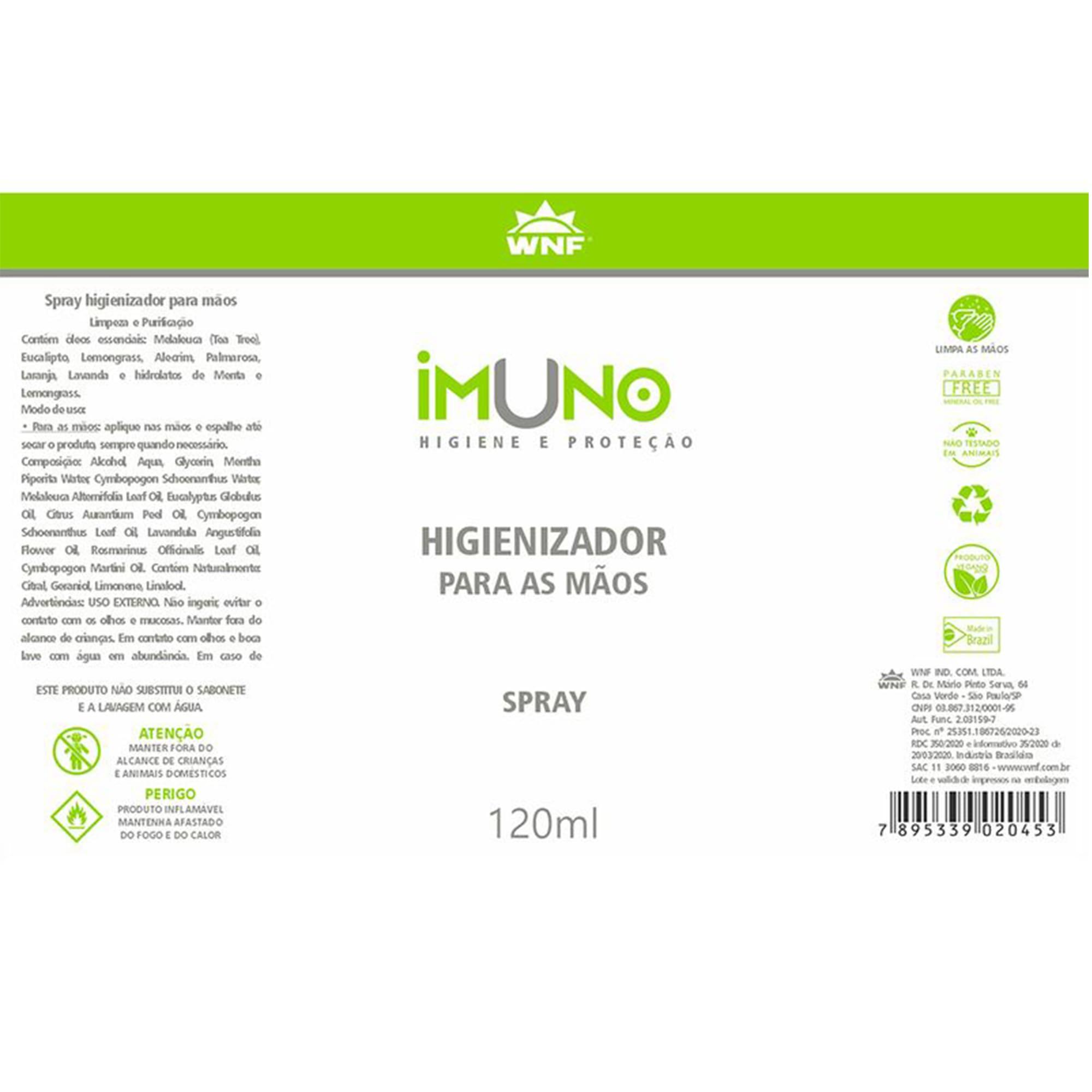 Higienizador Aromatherapy Imuno 200ml - WNF