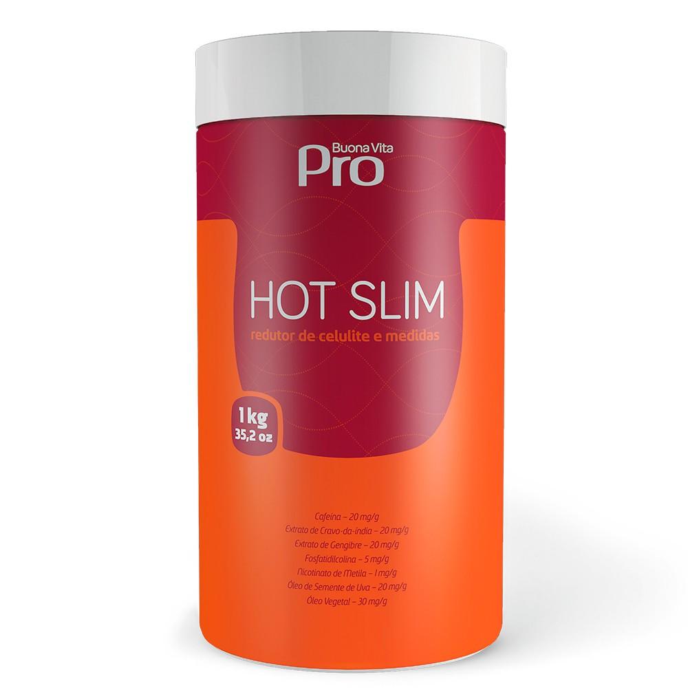 Hot Slim  - Creme Redutor Medidas e Celulite - 1kg | Buona Vita Cosméticos