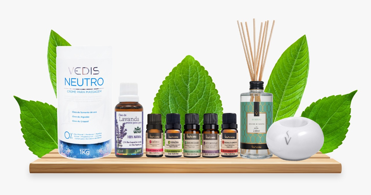 Kit Aromaterapia Super Completo - 9 produtos