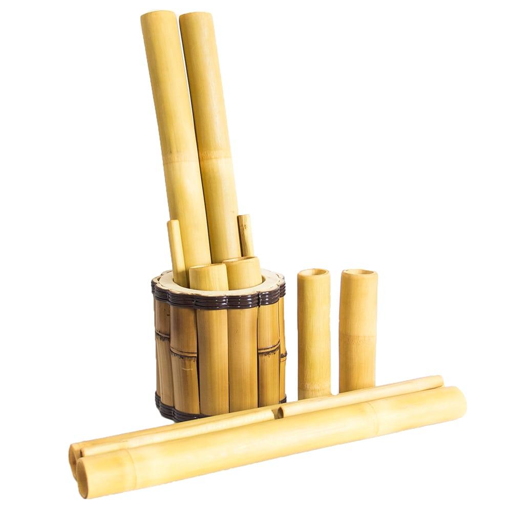 Kit Bamboo Com Suporte | Estética e Cia