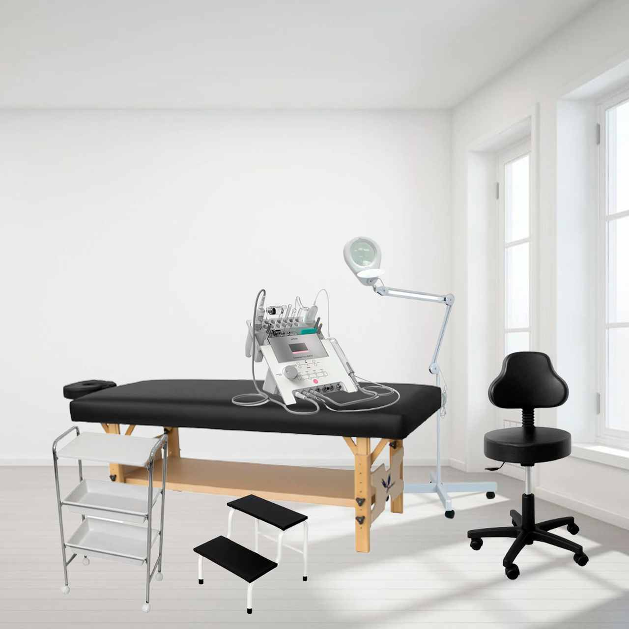 Kit Monte sua Clínica Comfort - Móveis + Equipamento com a Multiplataforma Facial mais completa do mercado