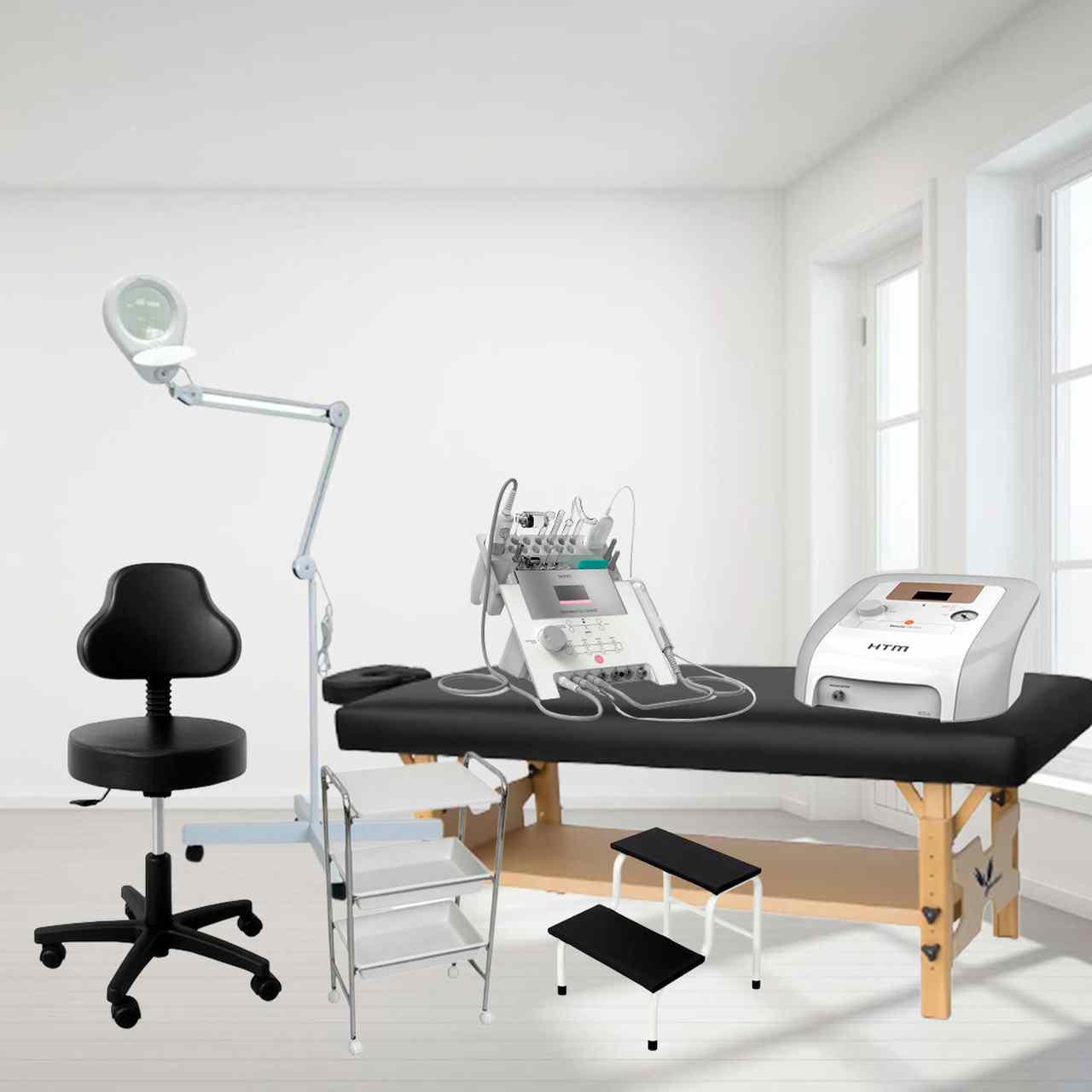 Kit Monte sua Clínica Comfort - Móveis + Equipamentos para Tratamentos Completos de Face e Corpo