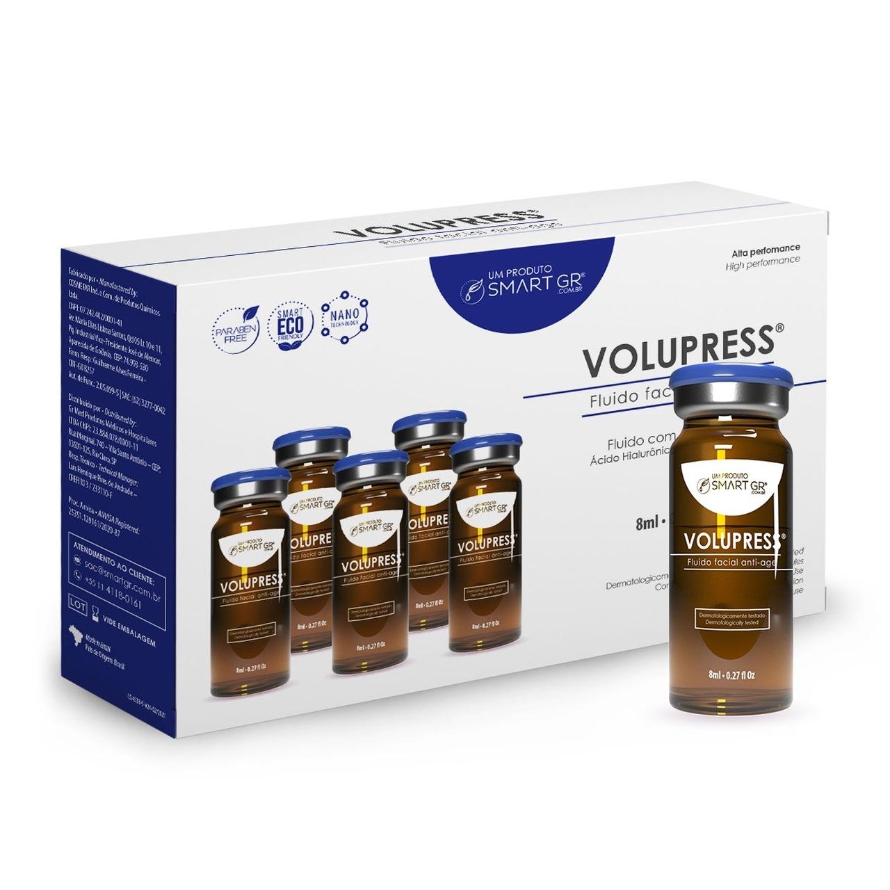 Kit Volupress 5 Ampolas - Fluido facial anti-age - Smart GR