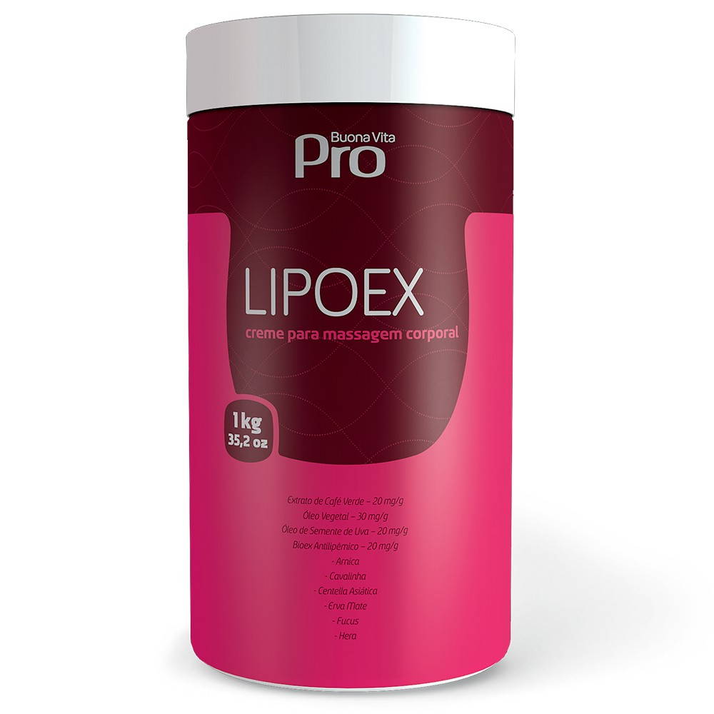 Lipoex  - Creme para Massagem Corporal 1kg | Buona Vita Cosméticos
