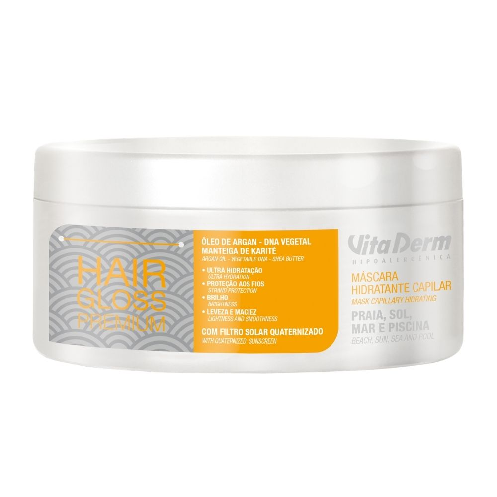 Máscara Capilar Hair Gloss Premium 300g - Vita Derm