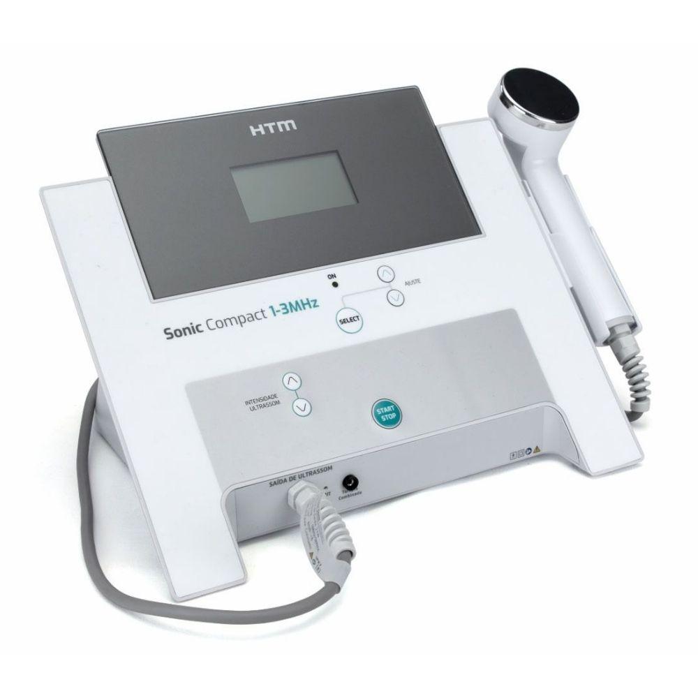 Novo Sonic Compact - Aparelho de Ultrassom de 1 e 3 MHz para Estética e Fisioterapia - HTM
