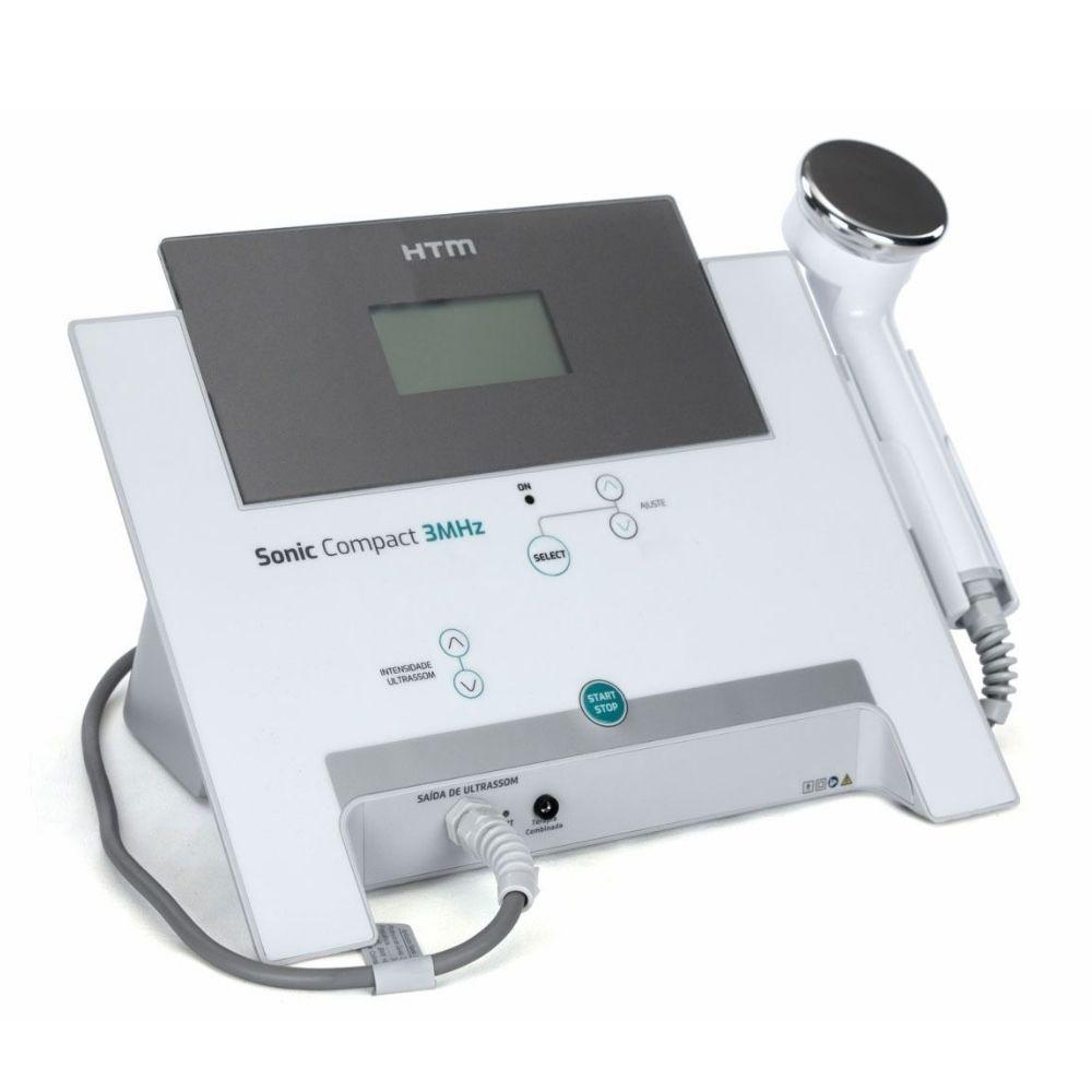 Novo Sonic Compact HTM  Aparelho de Ultrassom 3Mhz para Estética - HTM