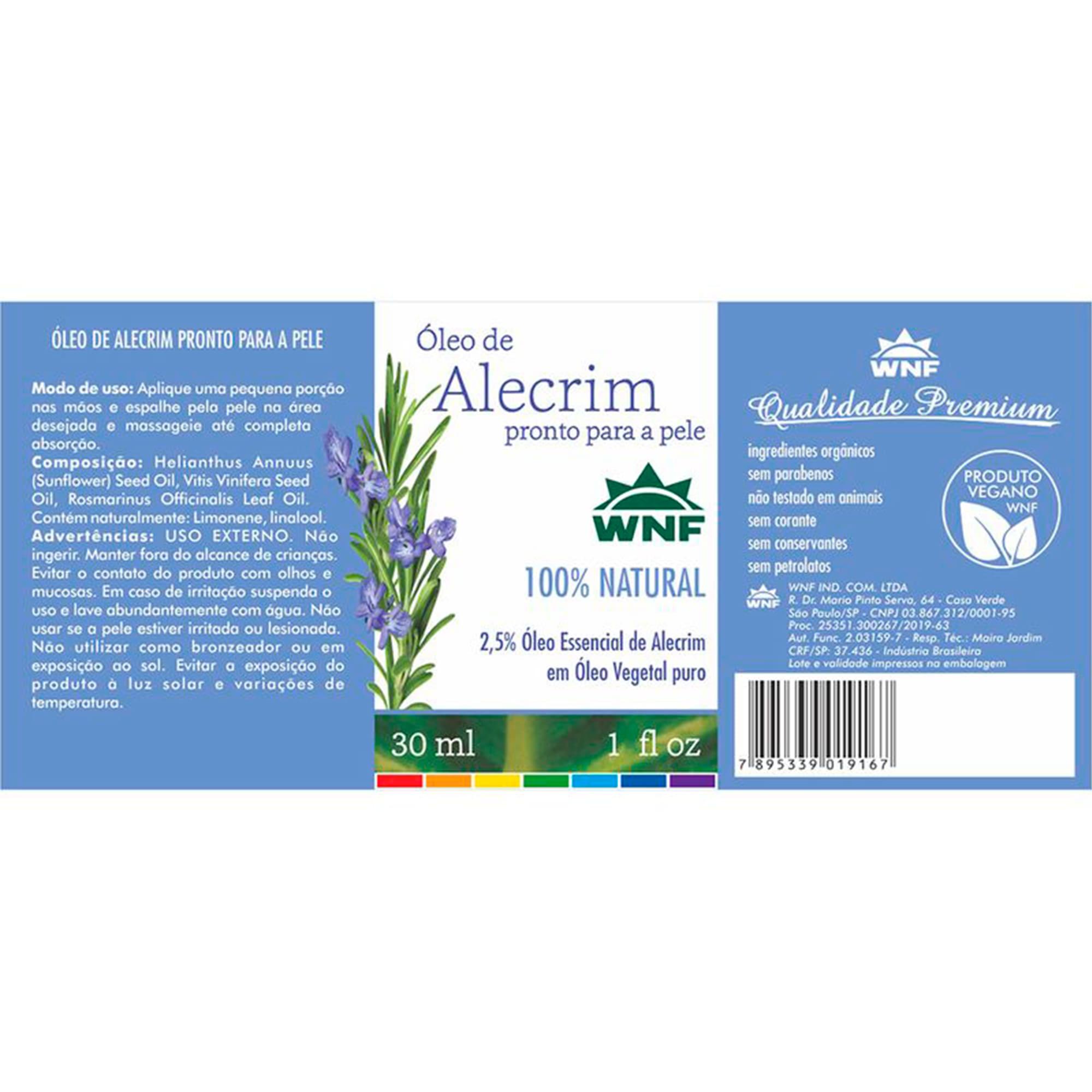 Óleo de Alecrim 30ml - Pronto para pele  WNF