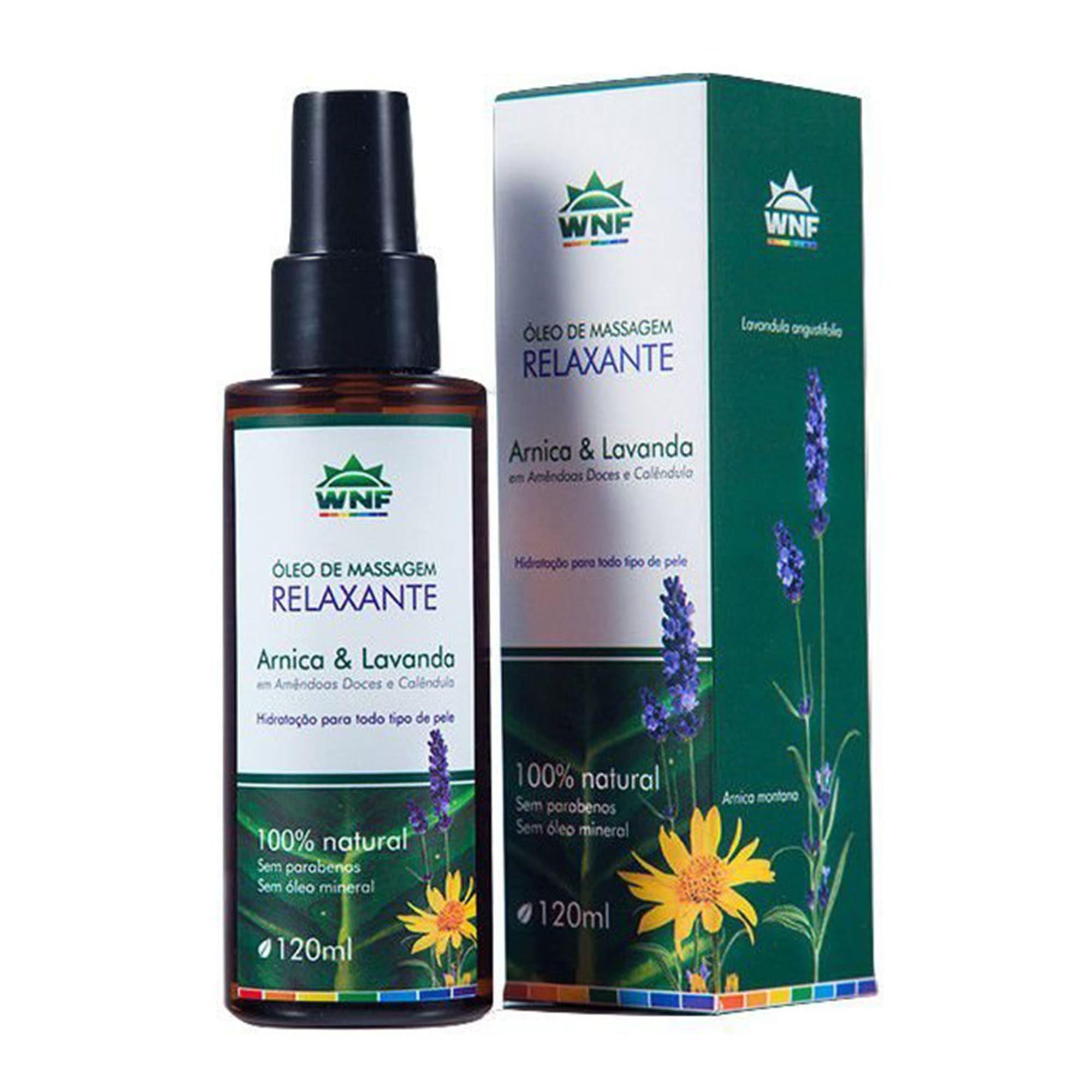 Óleo de Massagem Relaxante Natural Arnica e Lavanda 120ml – WNF