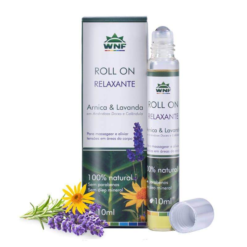 Óleo de Massagem Roll-on Relaxante Natural Arnica e Lavanda 10ml - WNF