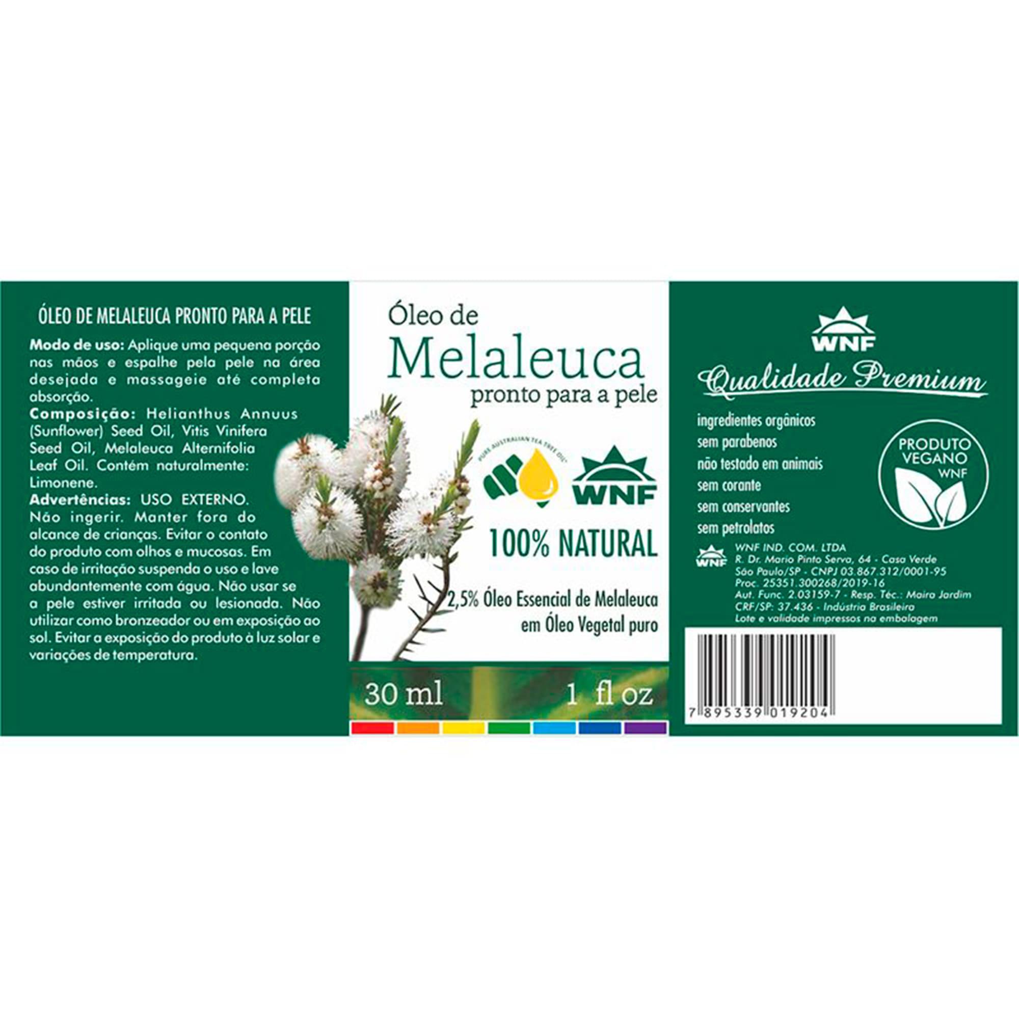 Óleo de Melaleuca 30ml - Pronto para a pele - WNF