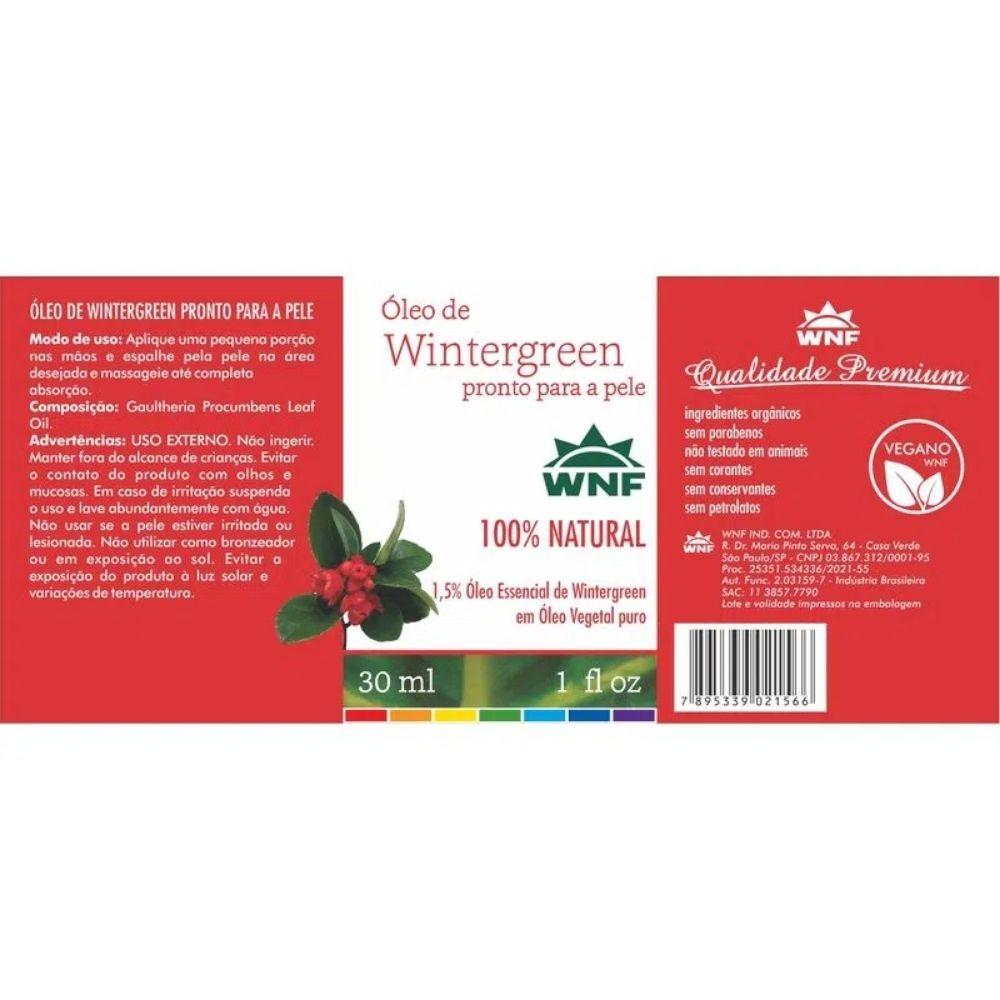 Óleo de Wintergreen - Pronto para pele 30ml - WNF