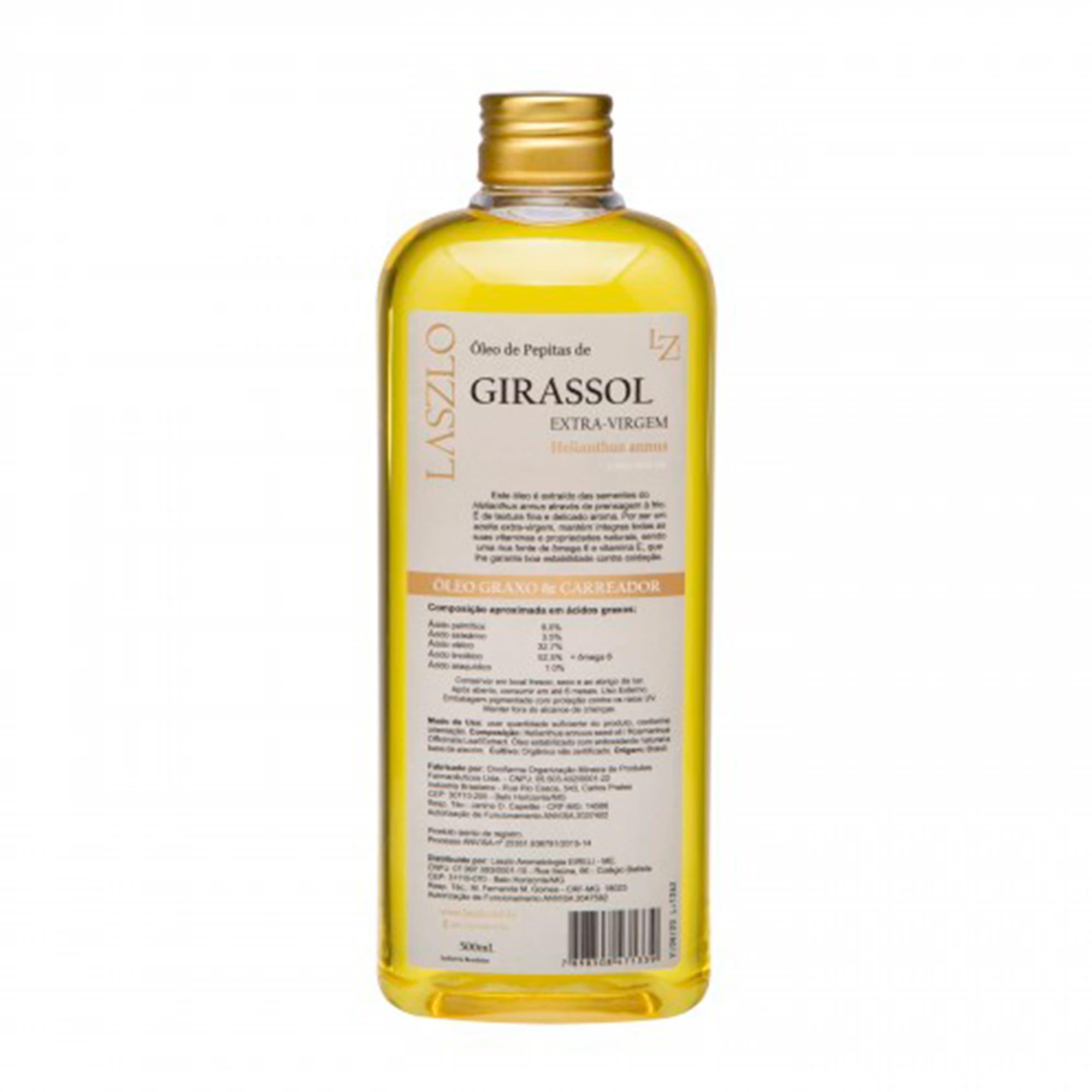 Óleo Vegetal de Girassol (pepitas) Extra-Virgem 500ml - Laszlo