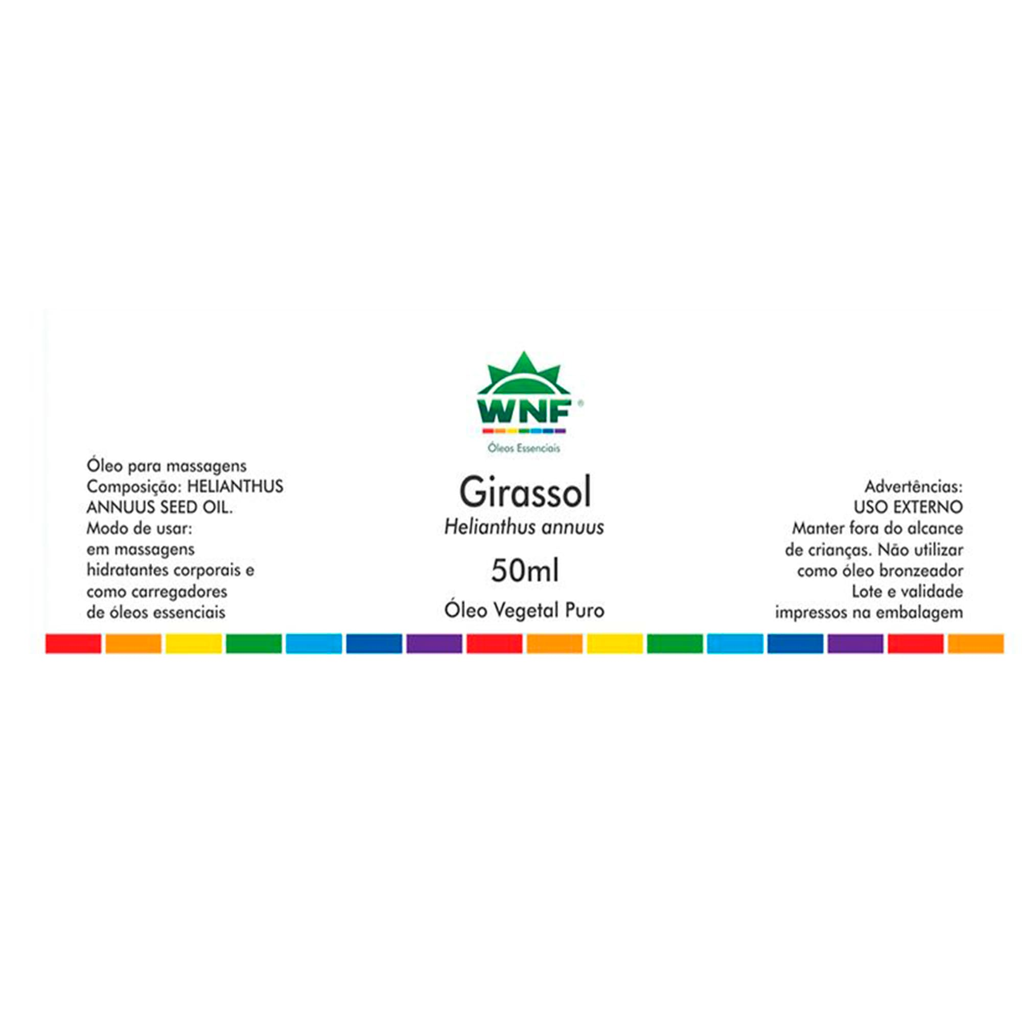 Óleo Vegetal Natural de Girassol 50ml  WNF