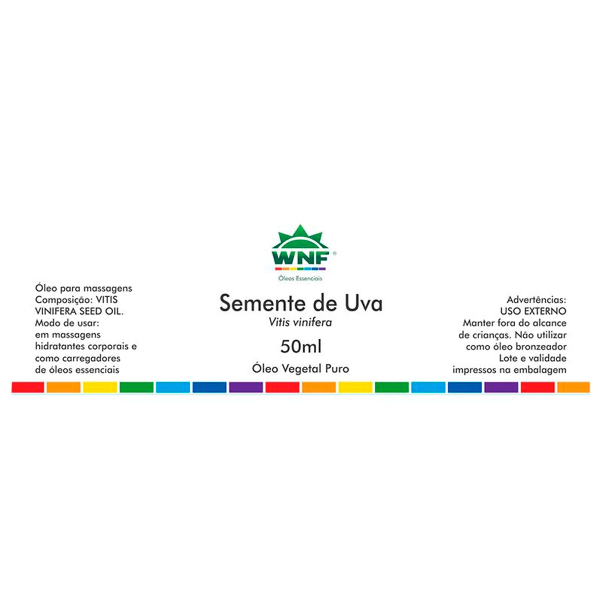Óleo Vegetal Natural de Semente de Uva 50ml – WNF