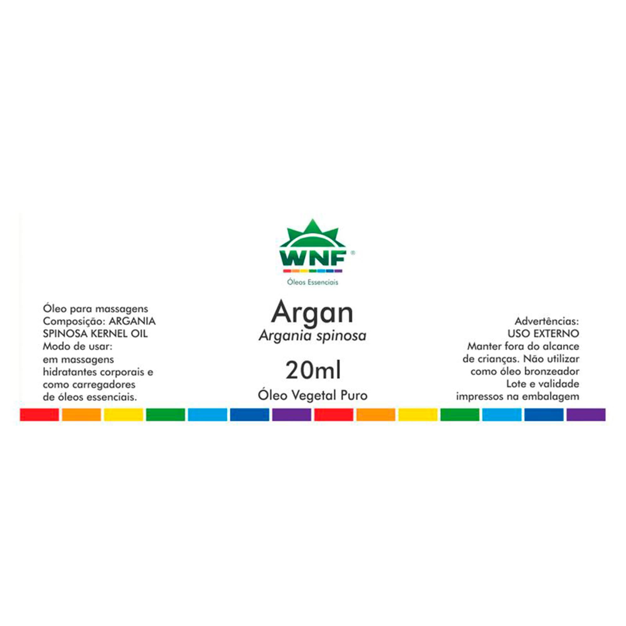 Óleo Vegetal Seleção Exclusiva Argan 20ml  WNF
