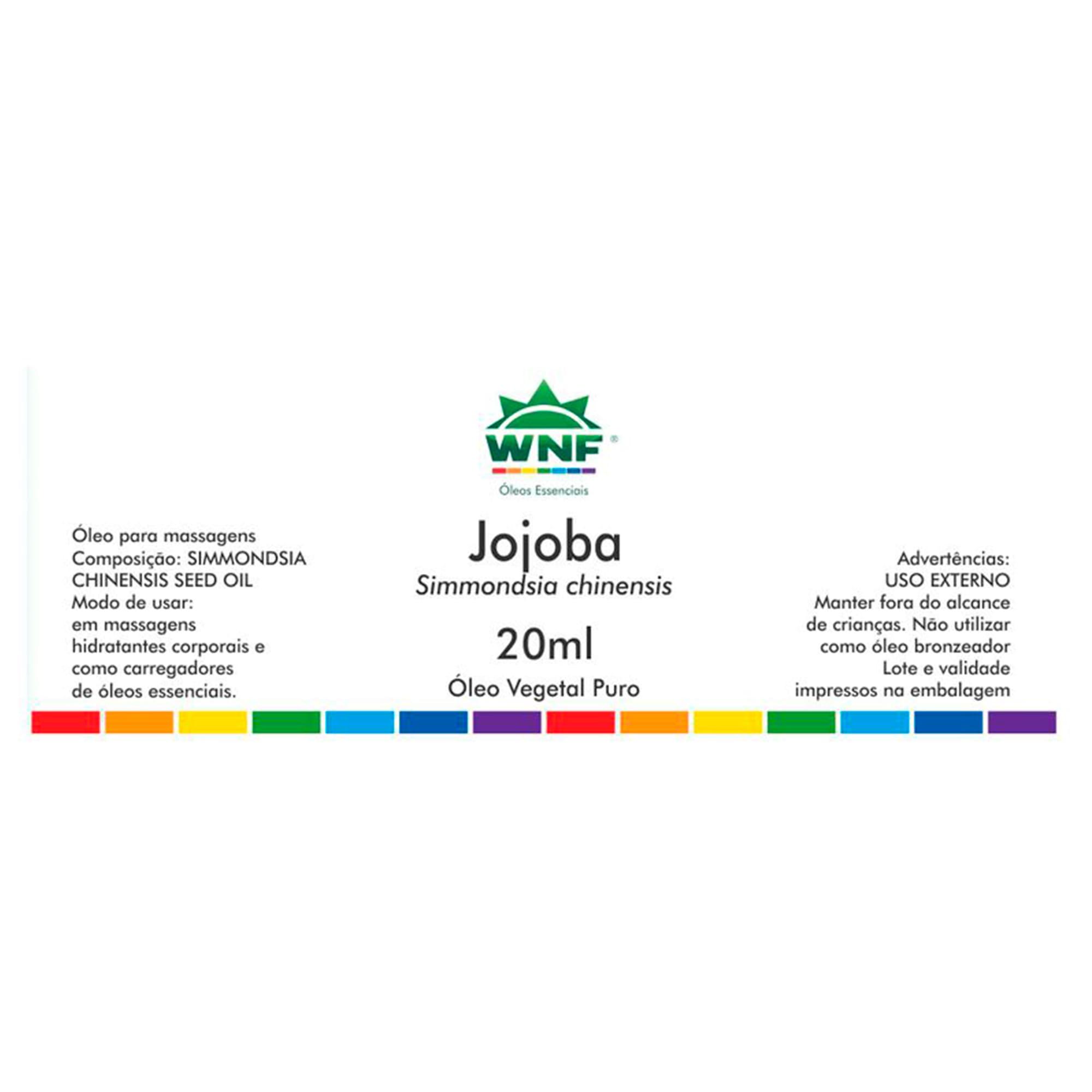 Óleo Vegetal Seleção Exclusiva Jojoba 20ml – WNF