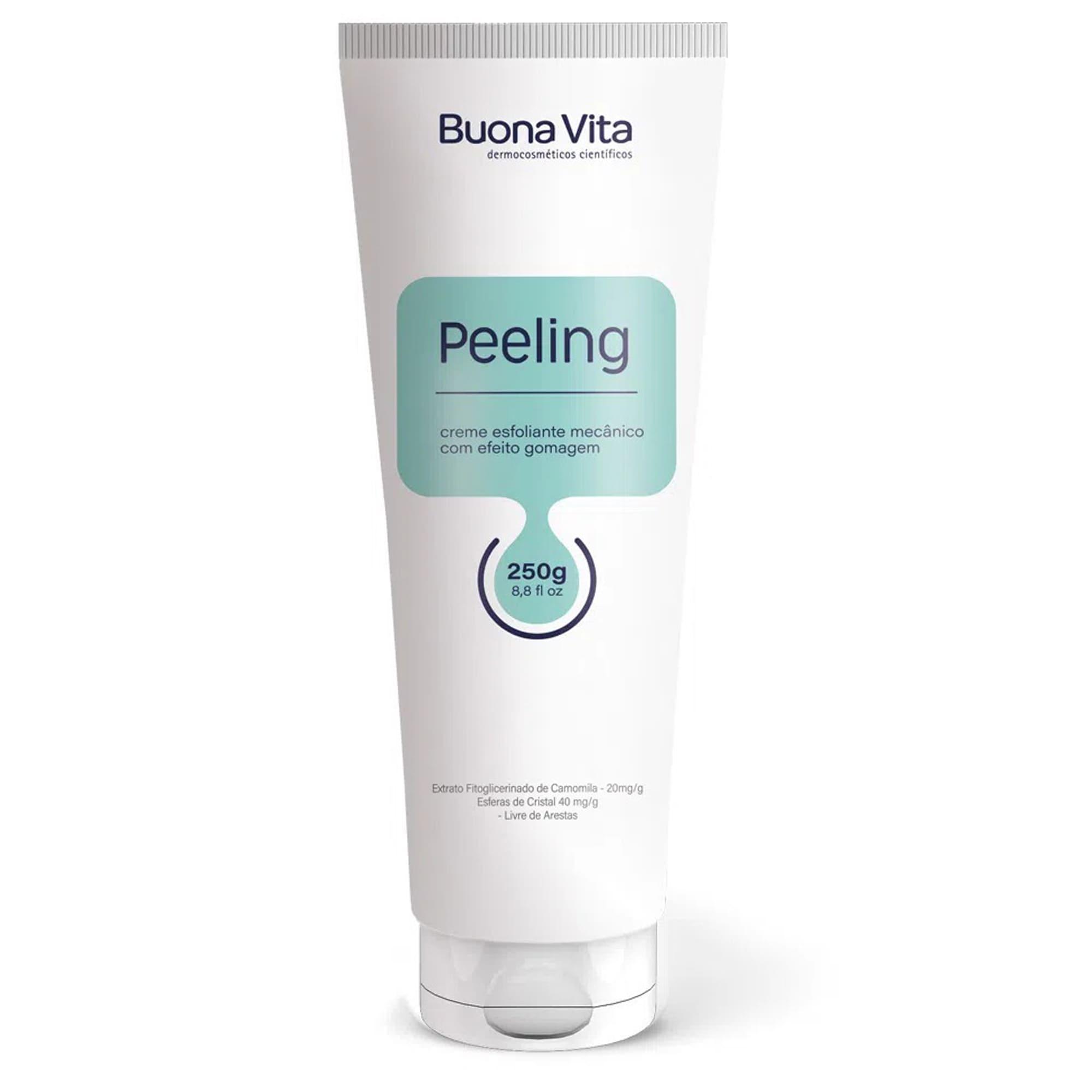 Peeling - Creme Esfoliante Mecânico com Efeito Gomagem 250g | Buona Vita Cosméticos