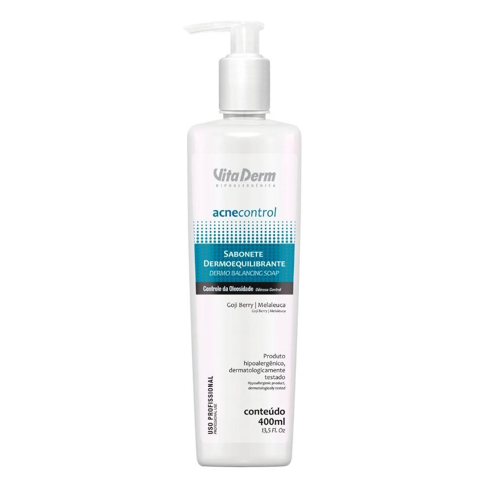Sabonete Dermoequilibrante Acne Control 400ml - Vita Derm
