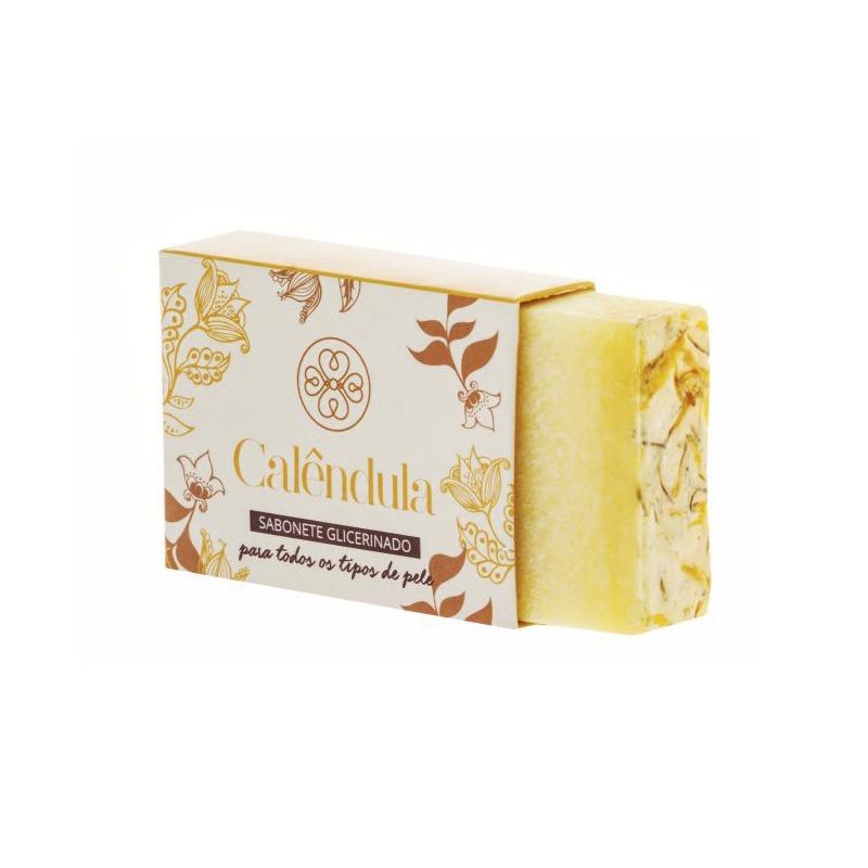 Sabonete Glicerinado Calêndula 90g - Flora Vie