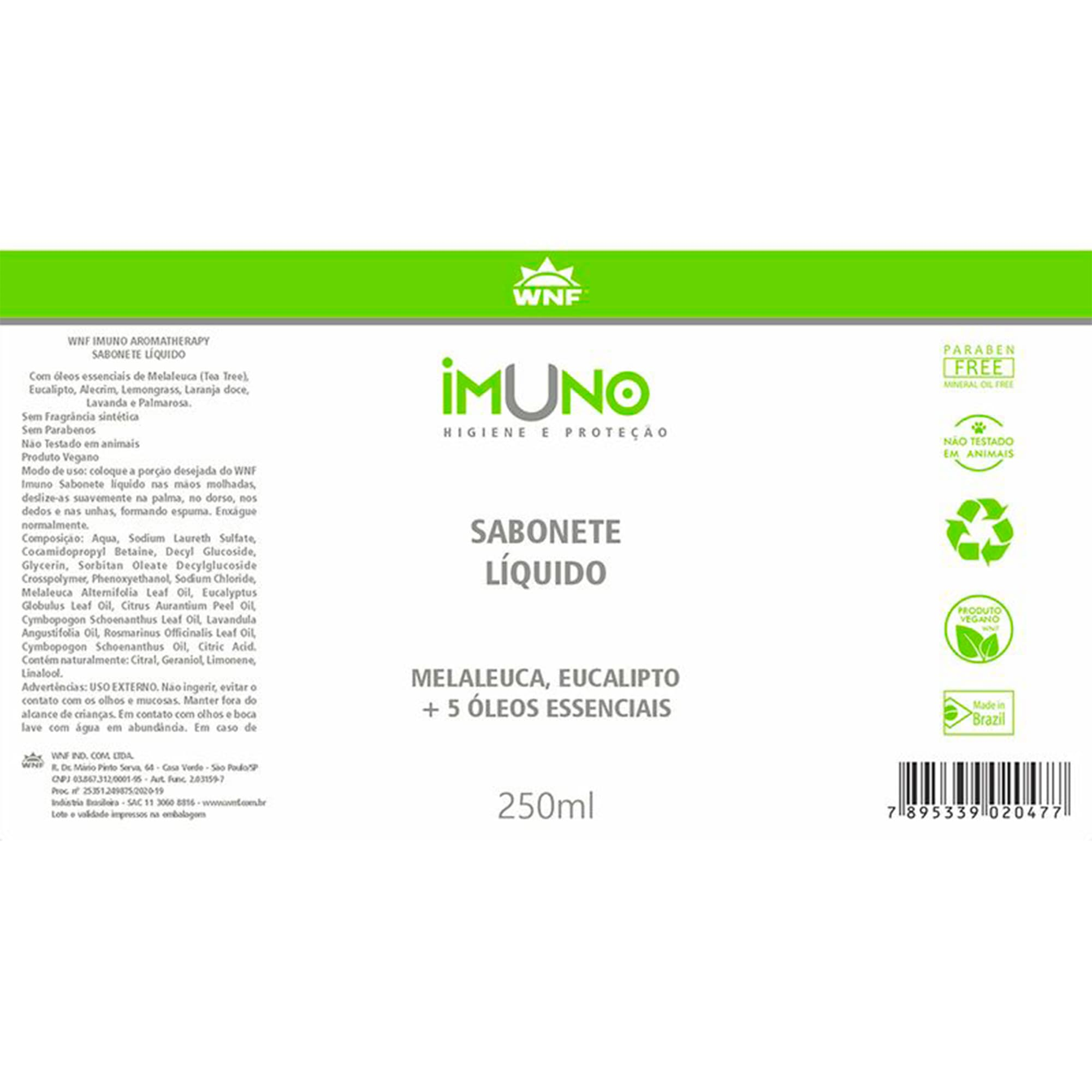 Sabonete Líquido Imuno 250ml - WNF
