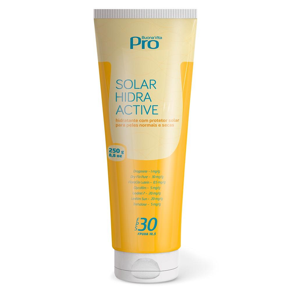 Solar Hidra Active - Hidratante com Protetor Solar FPS 30 - 250g | Buona Vita Cosméticos