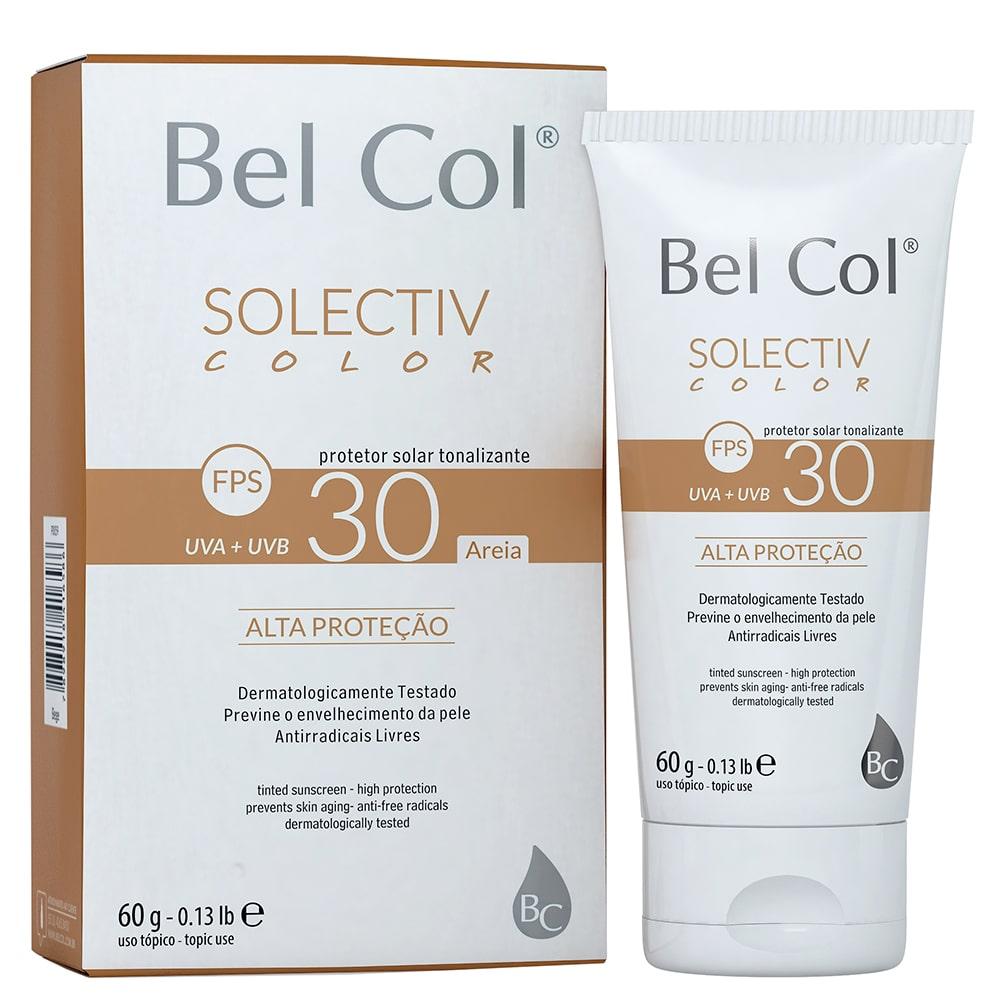 Solectiv Color FPS 30 - Protetor Solar Tonalizante 60g | Bel Col Cosméticos
