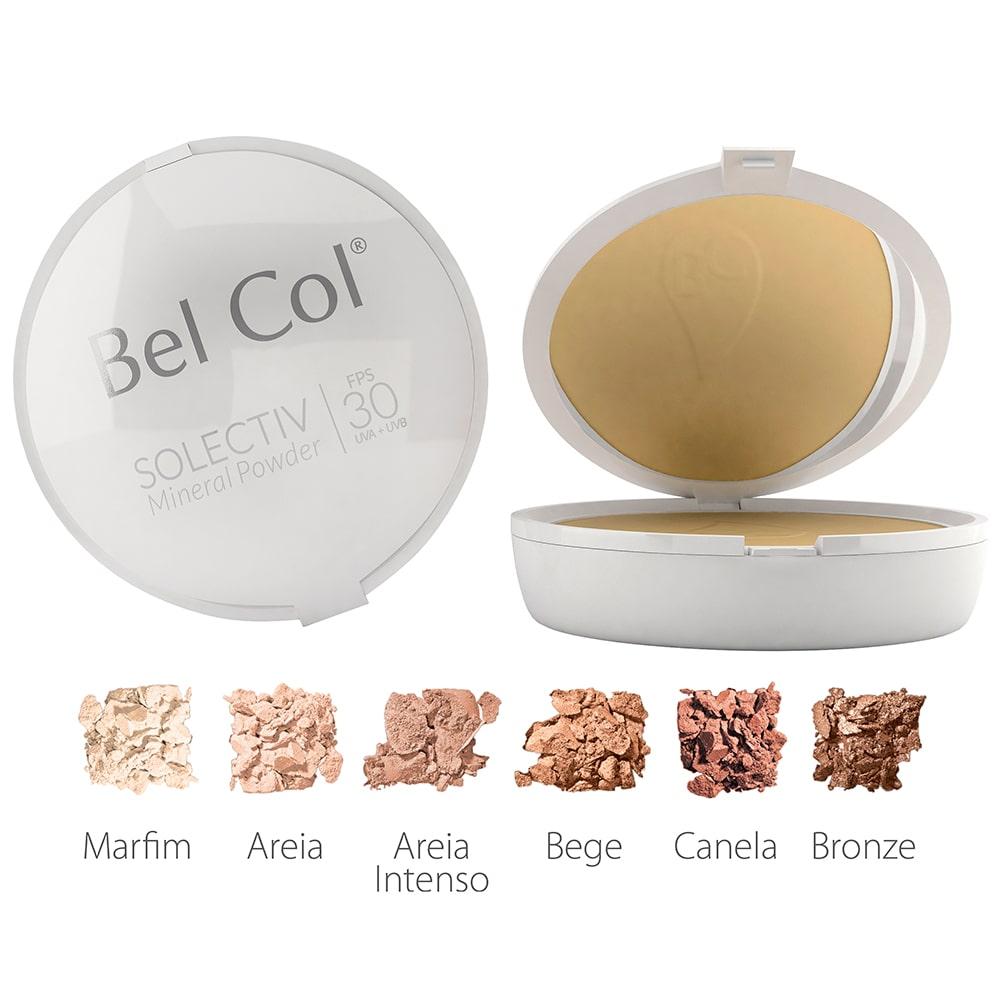 Solectiv Mineral Powder - Protetor Solar em Pó Compacto FPS 30   Bel Col Cosméticos
