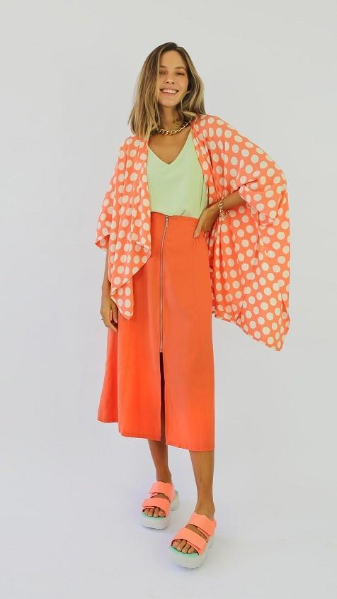 Kimono Poá Calmaria