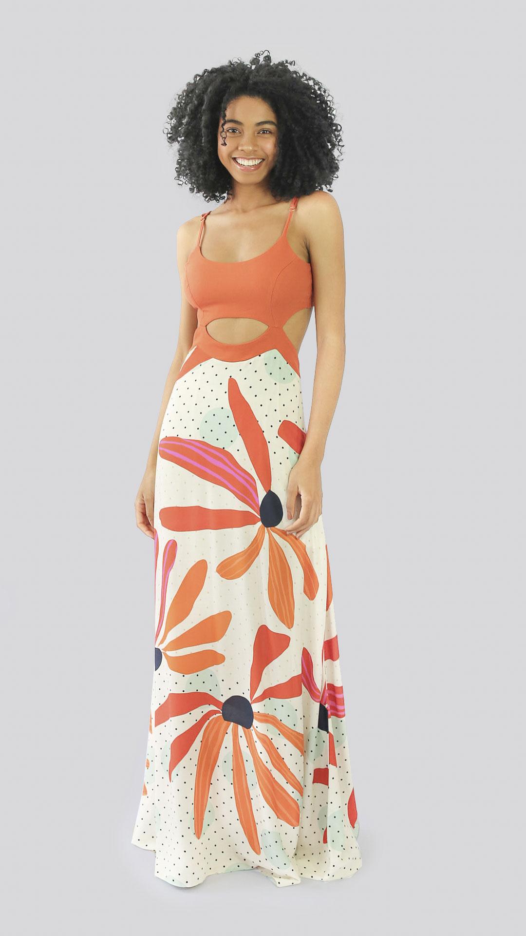 Vestido Flor de argila